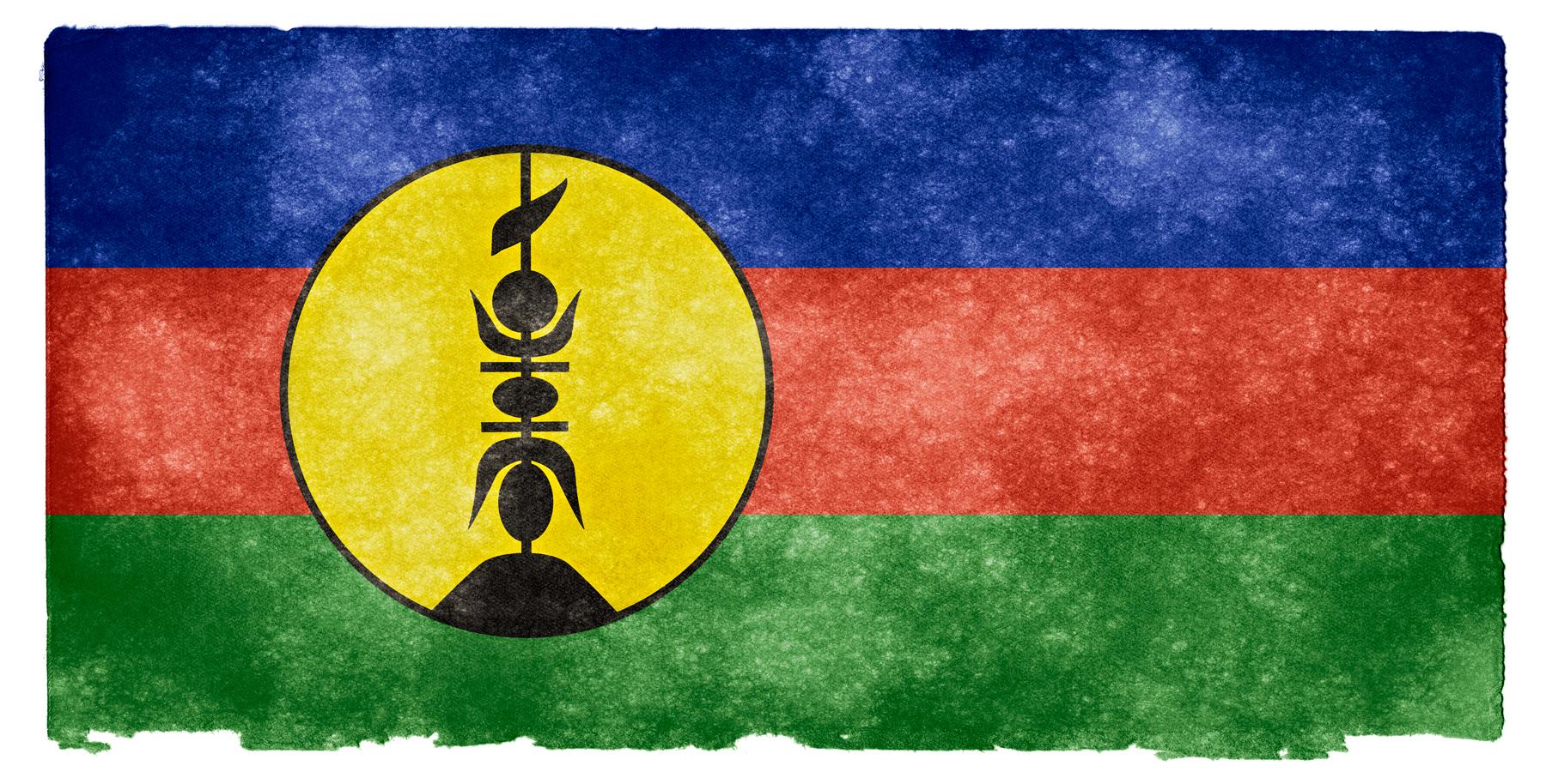 New caledonia grunge flag photo