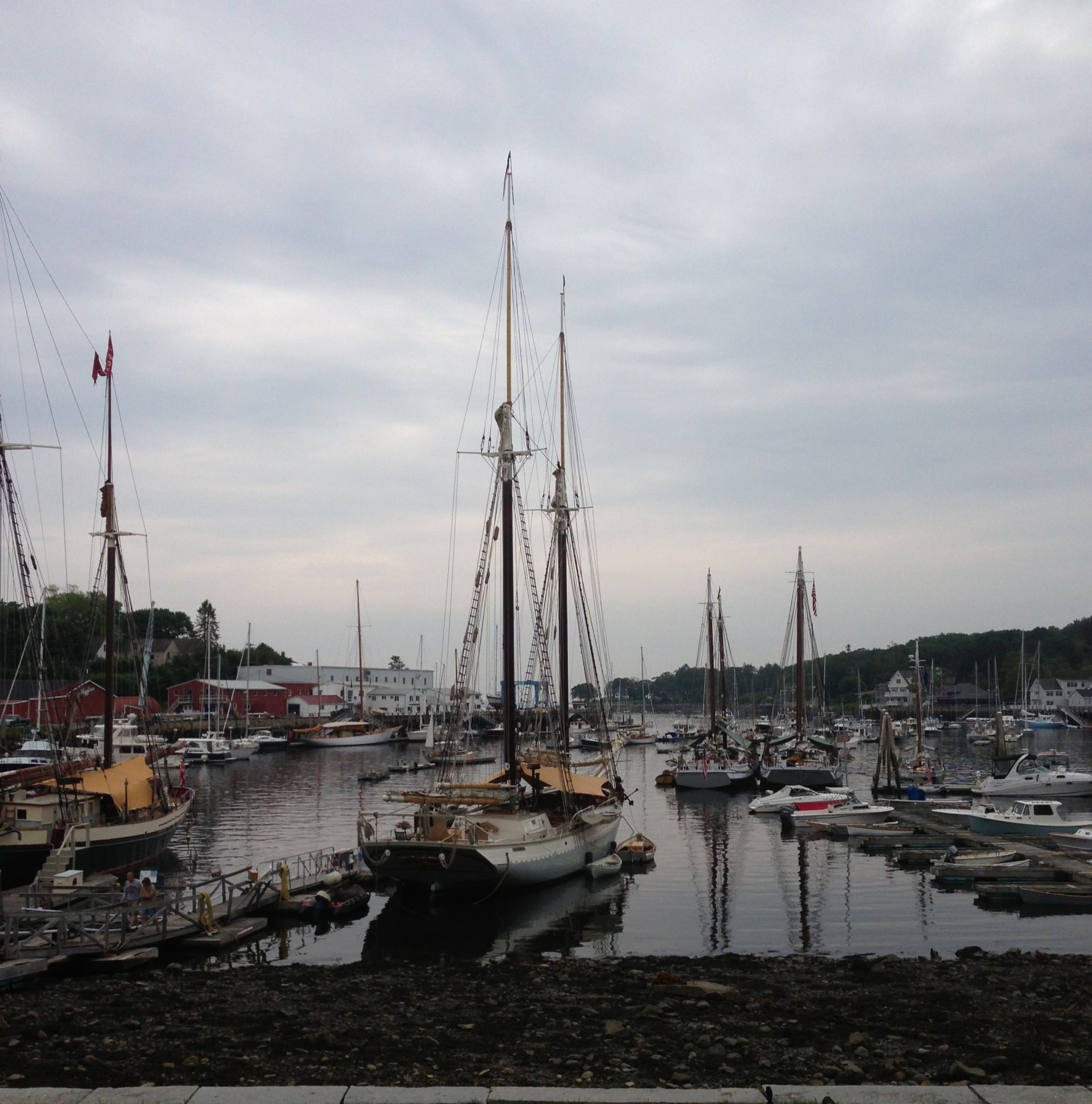 Camden Harbor, Maine captures the essence of coastal northern New ...