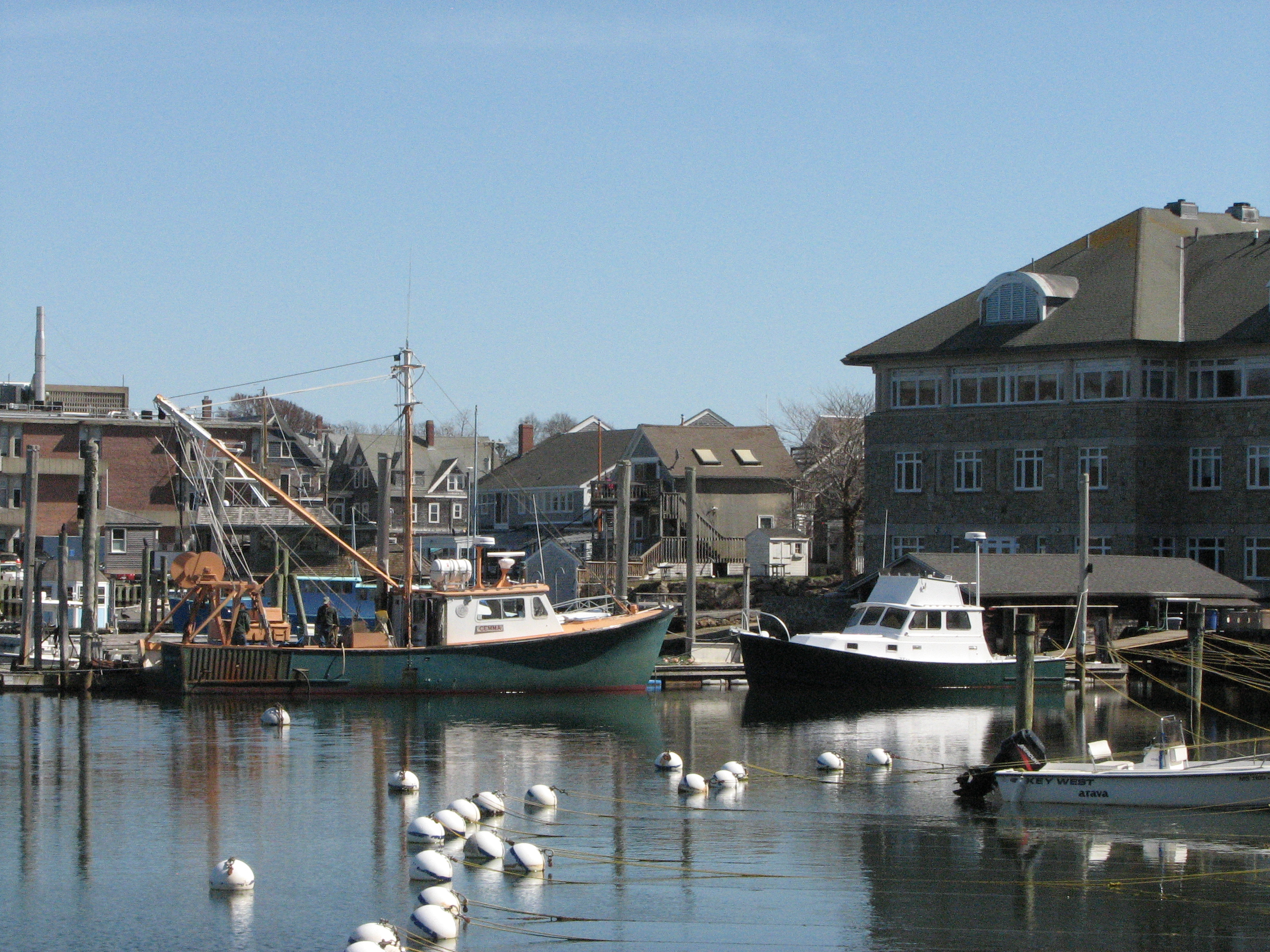 New england harbor, Boathouse, Boats, England, Harbor, HQ Photo
