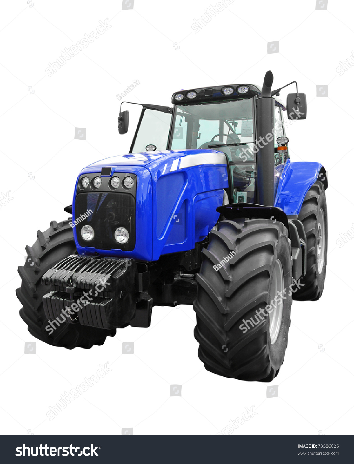 New tractor isolated photo
