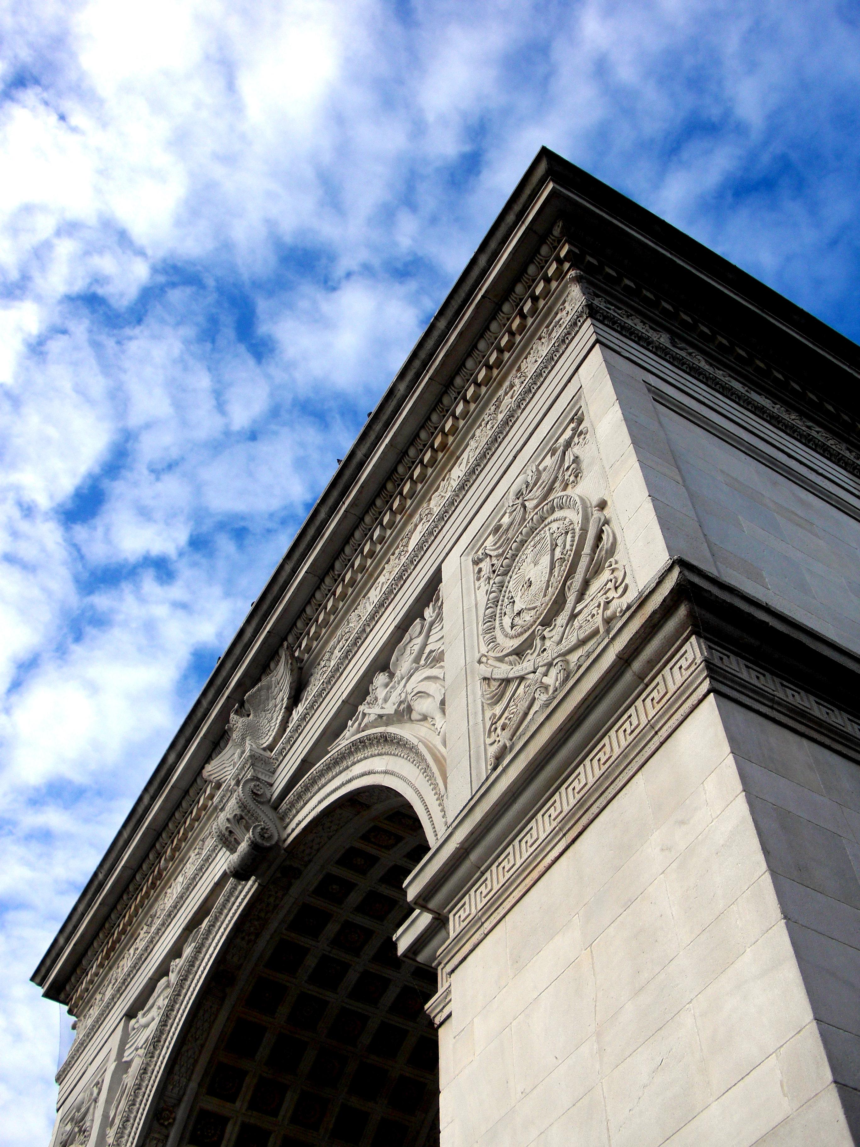 New York, Arch, City, Greenwich, Landmarks, HQ Photo