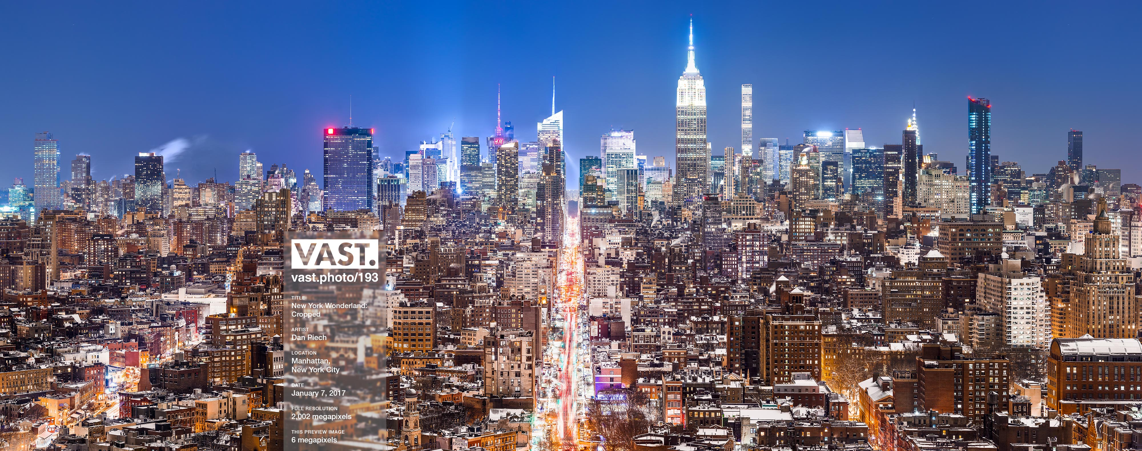 NYC Night Skyline Photos: High-Res Large-Format Prints - VAST