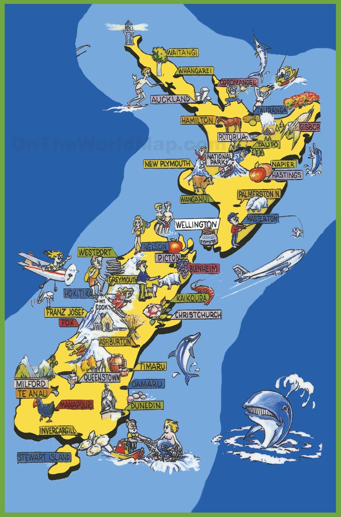 New Zealand Must See Map.New Zealand Must See Map Unsecureflight Nl