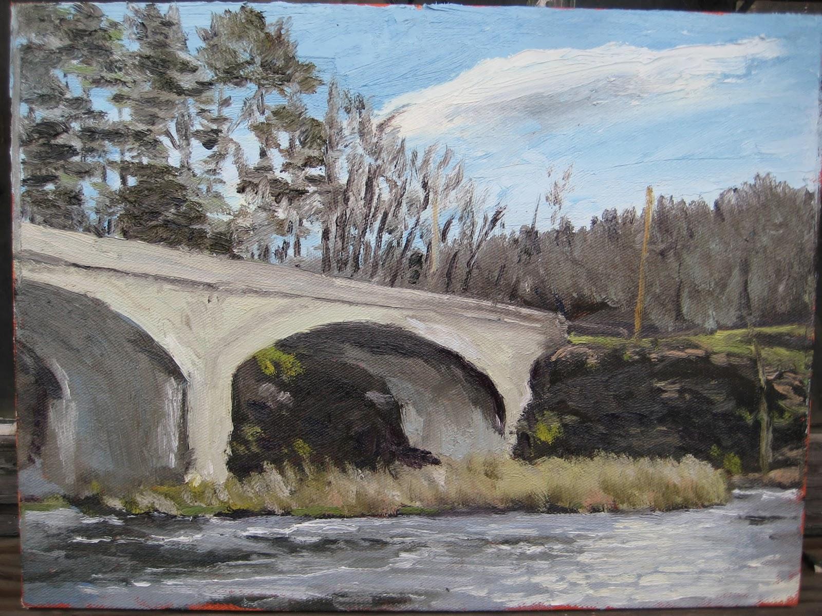Newly painted bridge photo