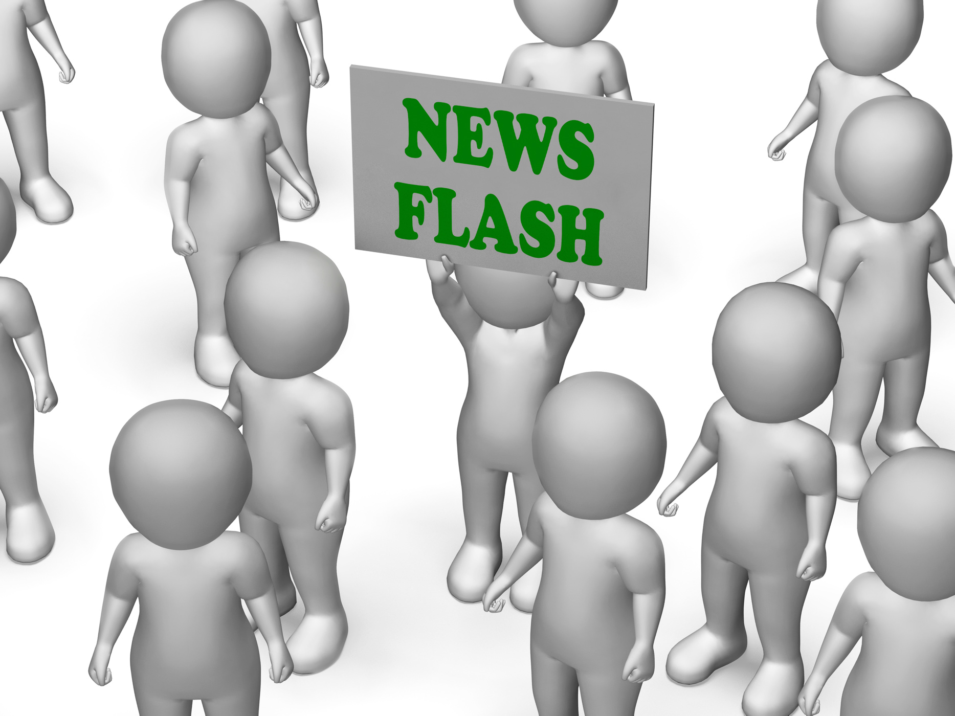 News Flash Board Character Shows Daily News And Journalism, Knowledge, Report, Press, Newspaper, HQ Photo