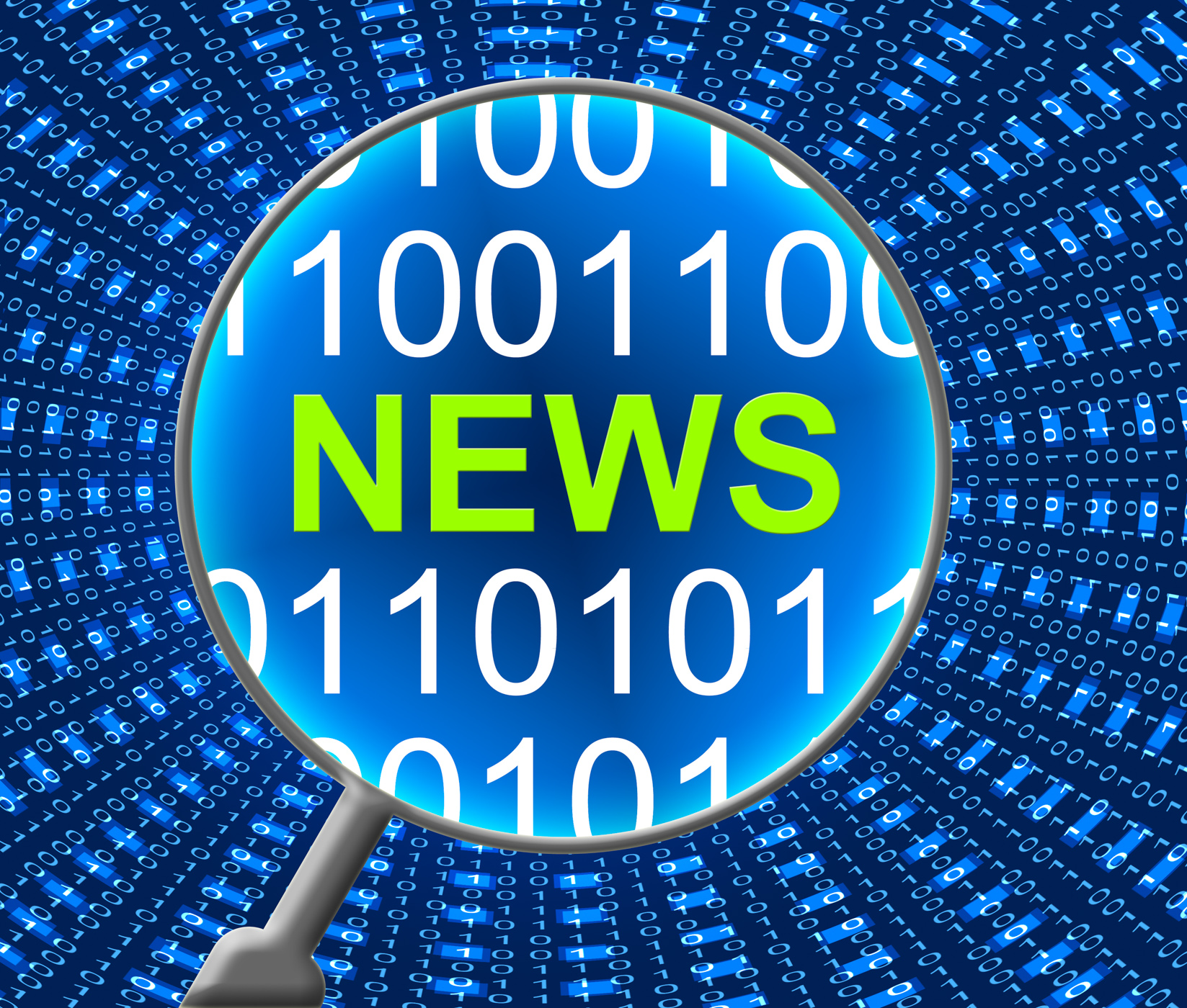 News online represents web site and computer photo
