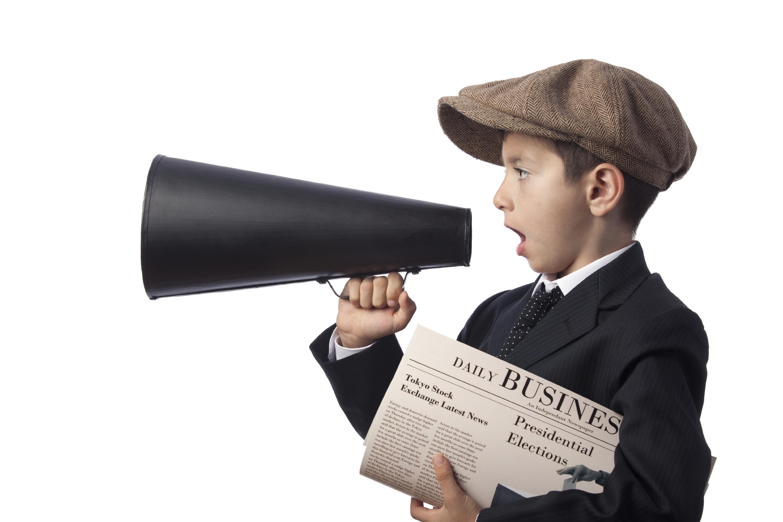 Newspaper boy photo