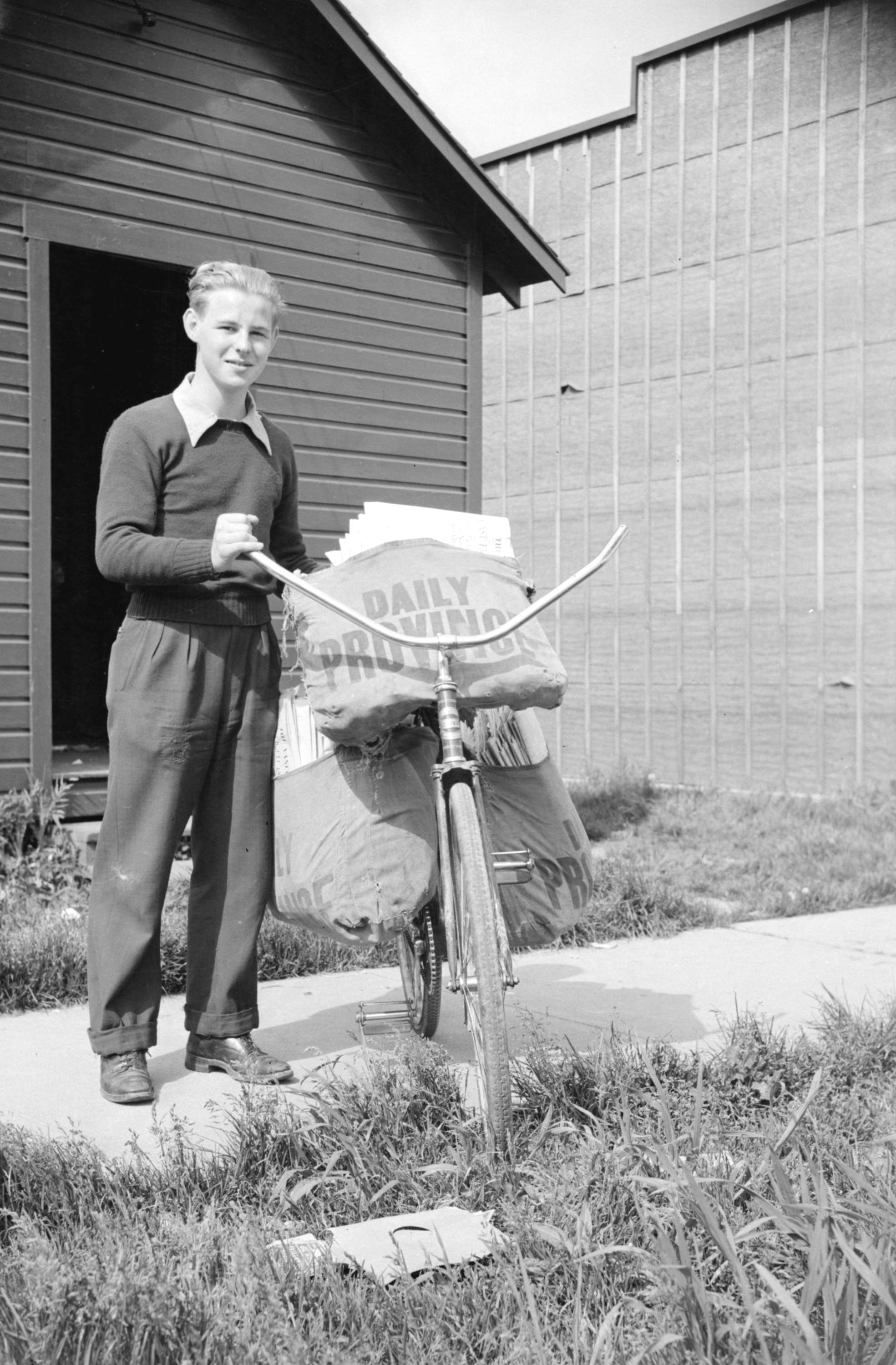 newspaper delivery boy with bicycle | Drive | Pinterest | Newspaper ...