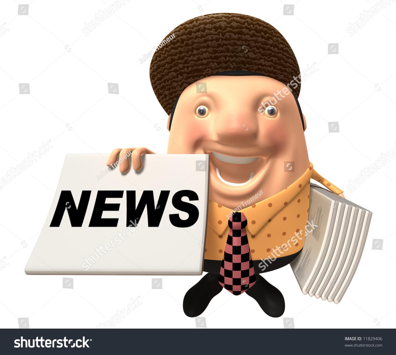 Newspaper Boy Stock Illustration 11829406 - Shutterstock