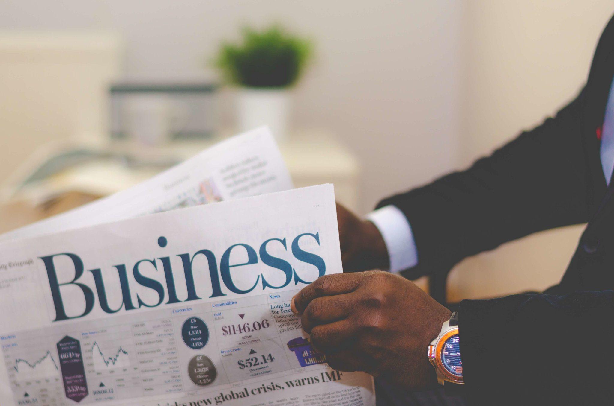 Newspaper business photo