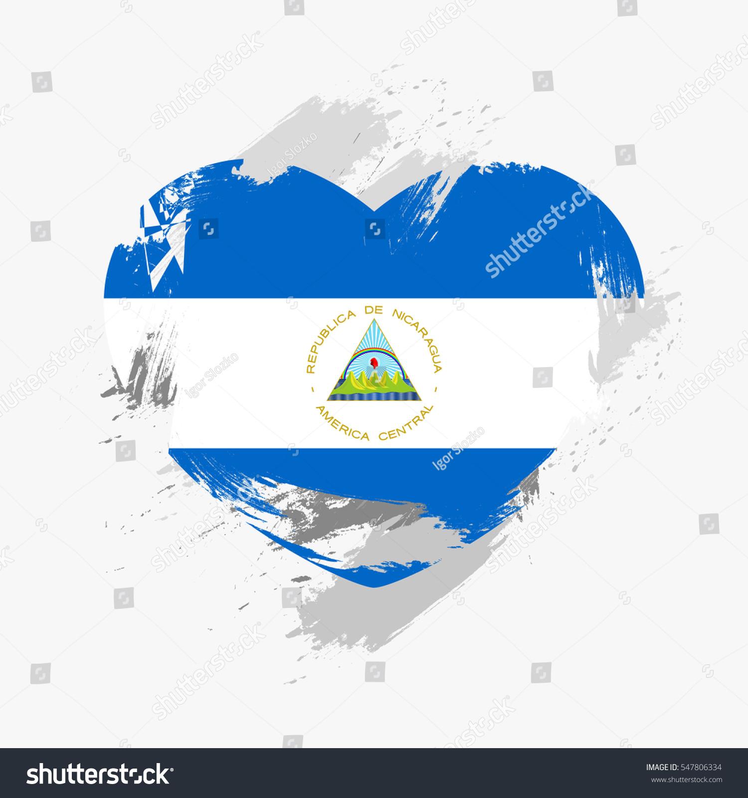 Nicaragua grunge flag photo