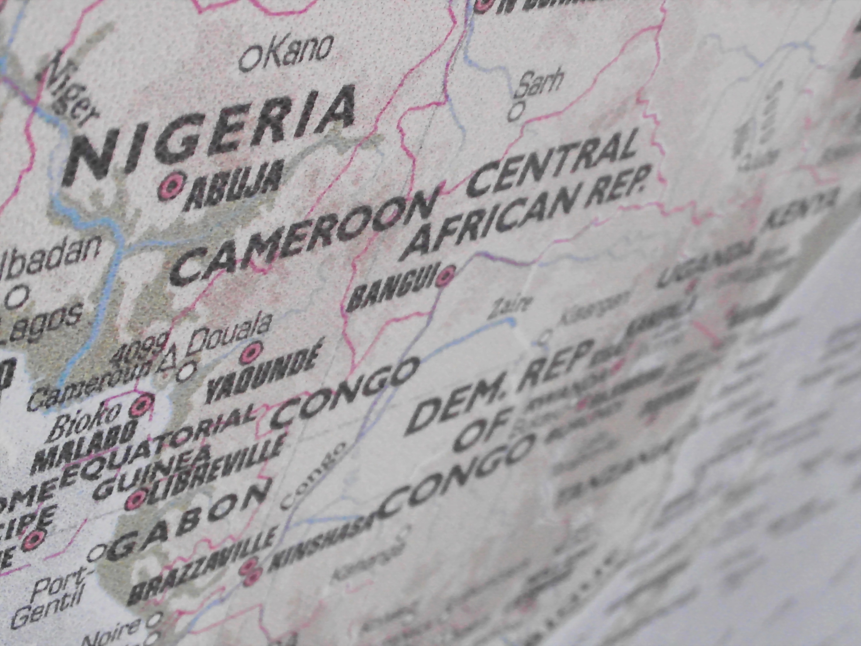Nigeria and cameroon map photo