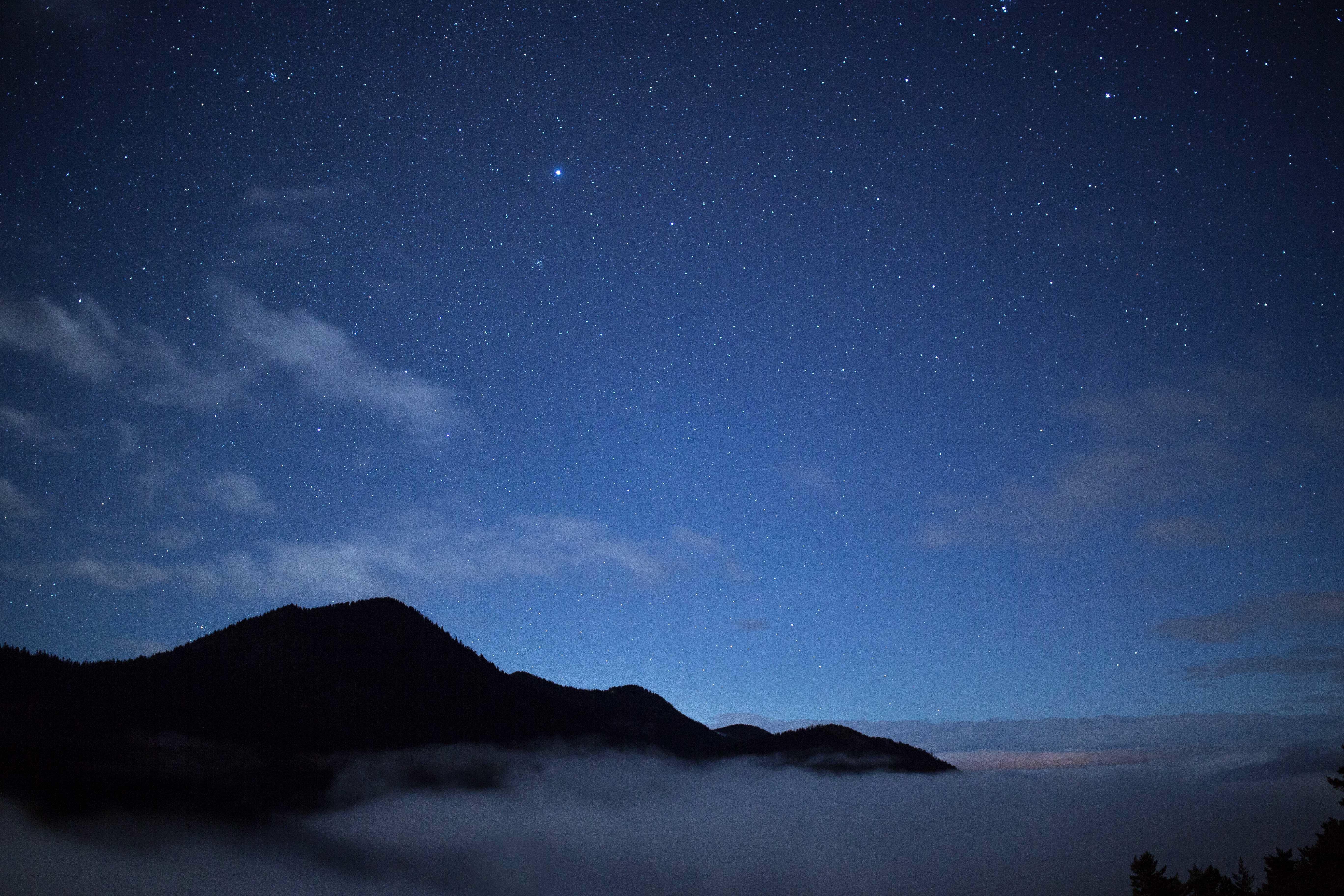 Night, Calm, Cloud, Cloudy, Landscape, HQ Photo