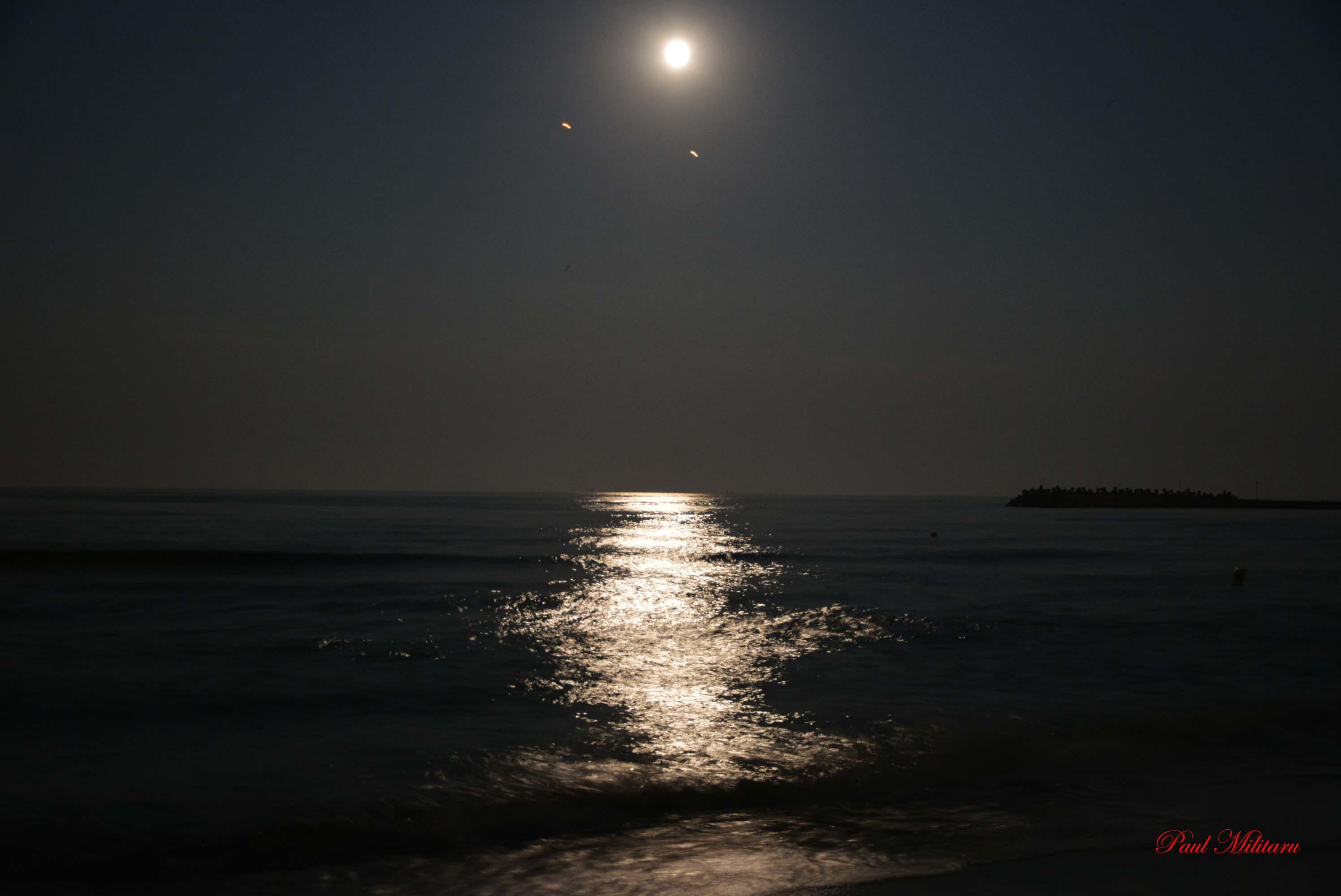 moon, night, sea…and me…!   Paul Militaru