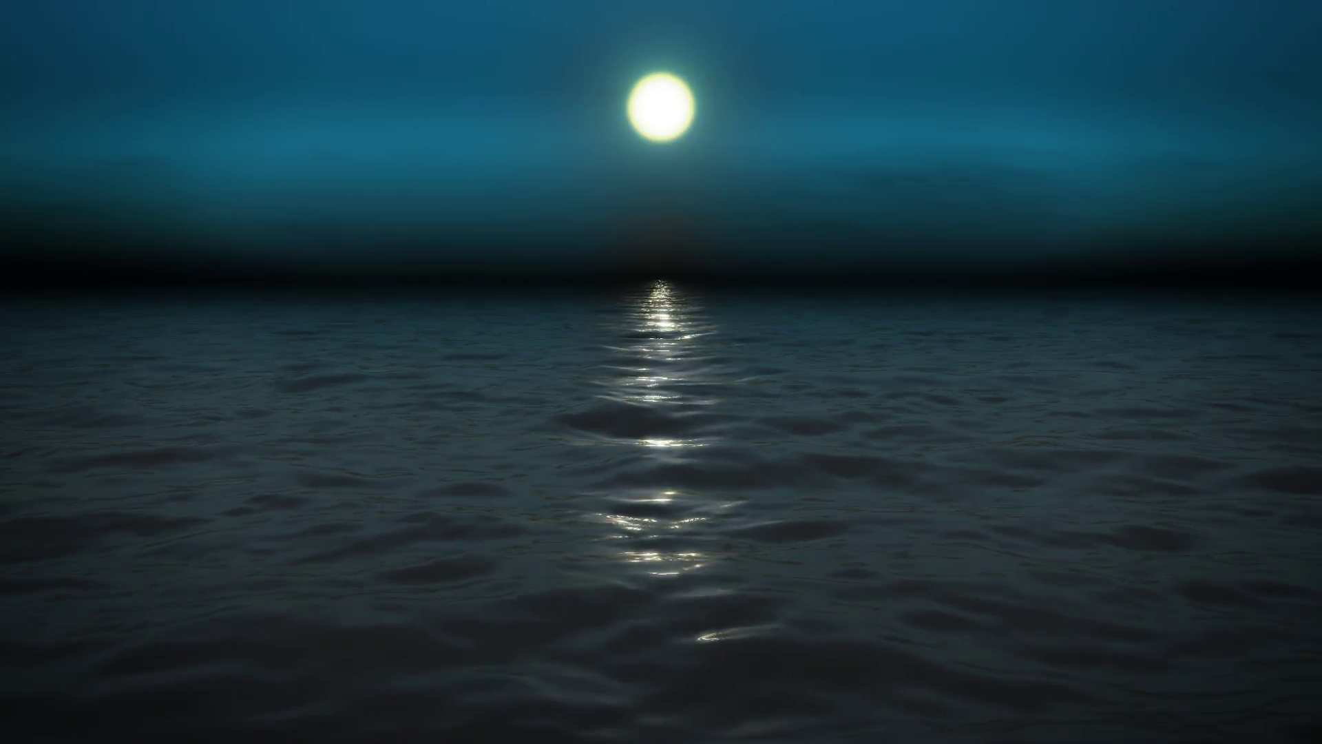 Night sea with moon Motion Background - VideoBlocks