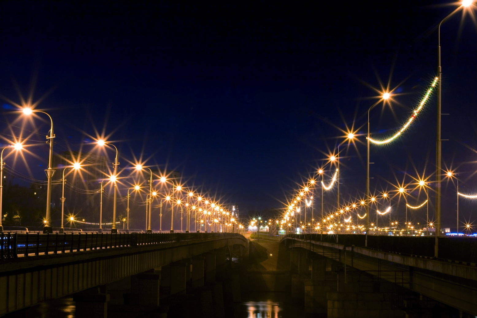 Free photo: Night city - Abstract, Streetlights, Road ...
