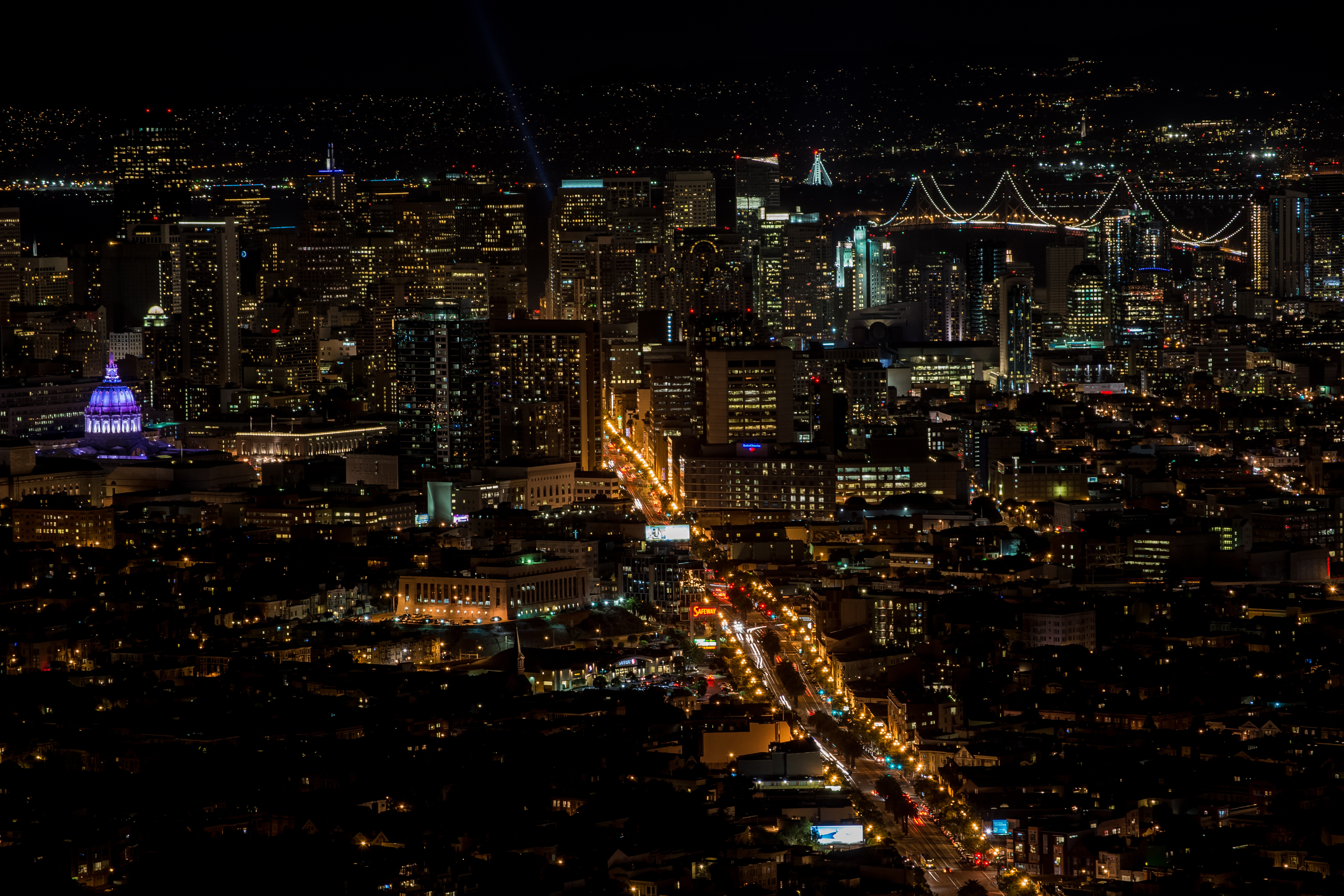 Night Life, Aerial, Building, Life, Night, HQ Photo