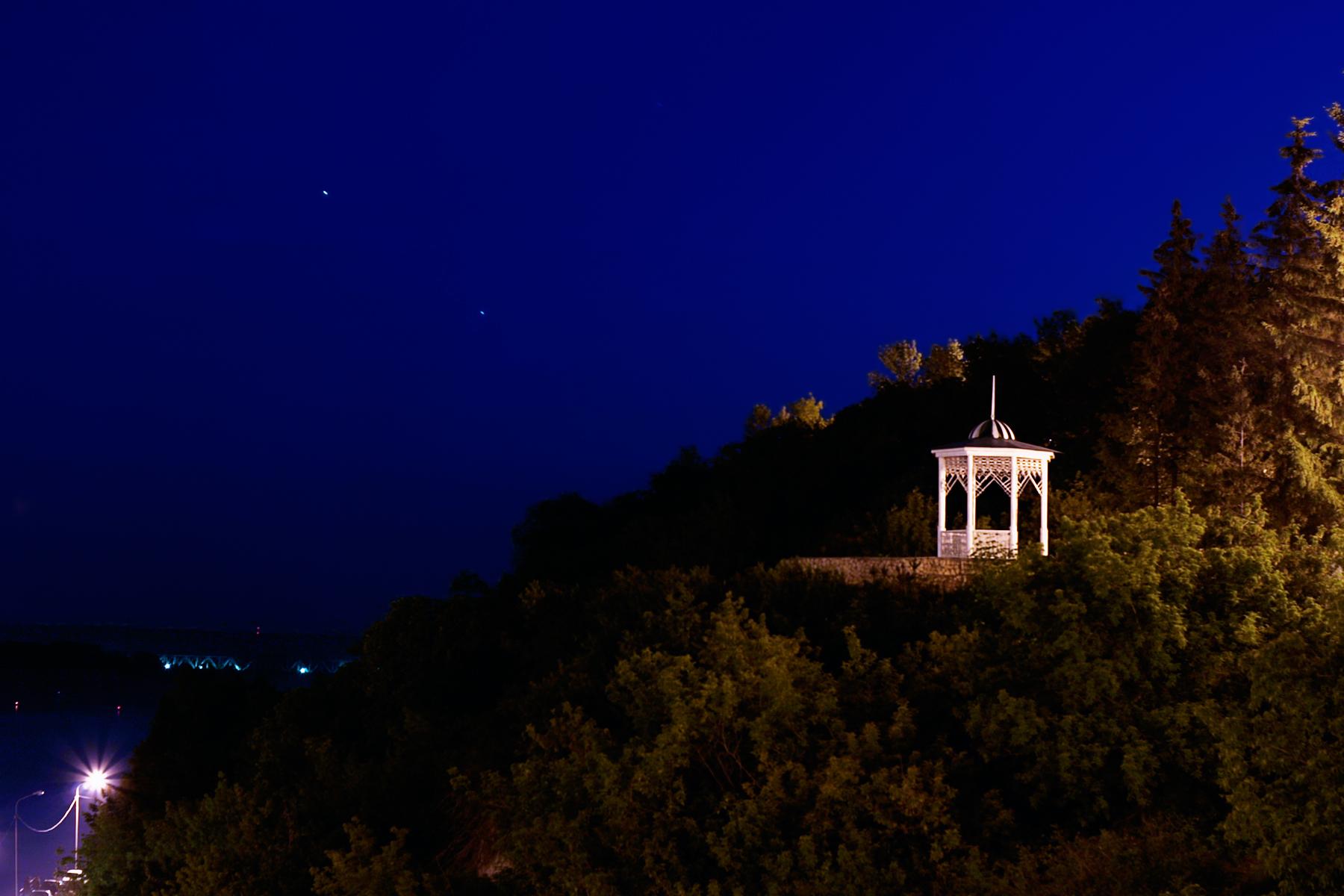 Night scene, Dark, Outdoos, Ufa, Trees, HQ Photo
