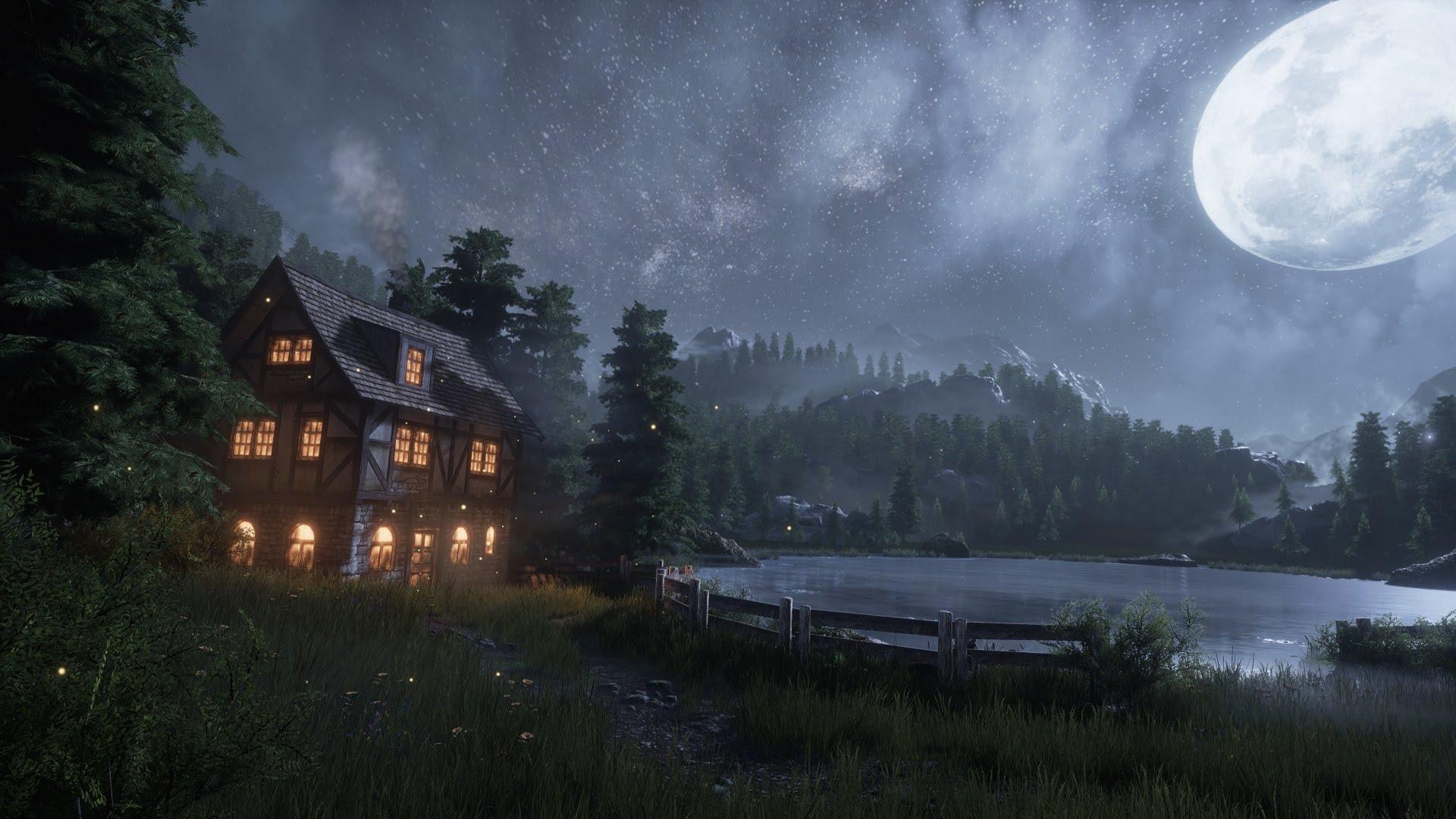 Creating a quick Unreal Engine 4 Night/Lake Scene - YouTube