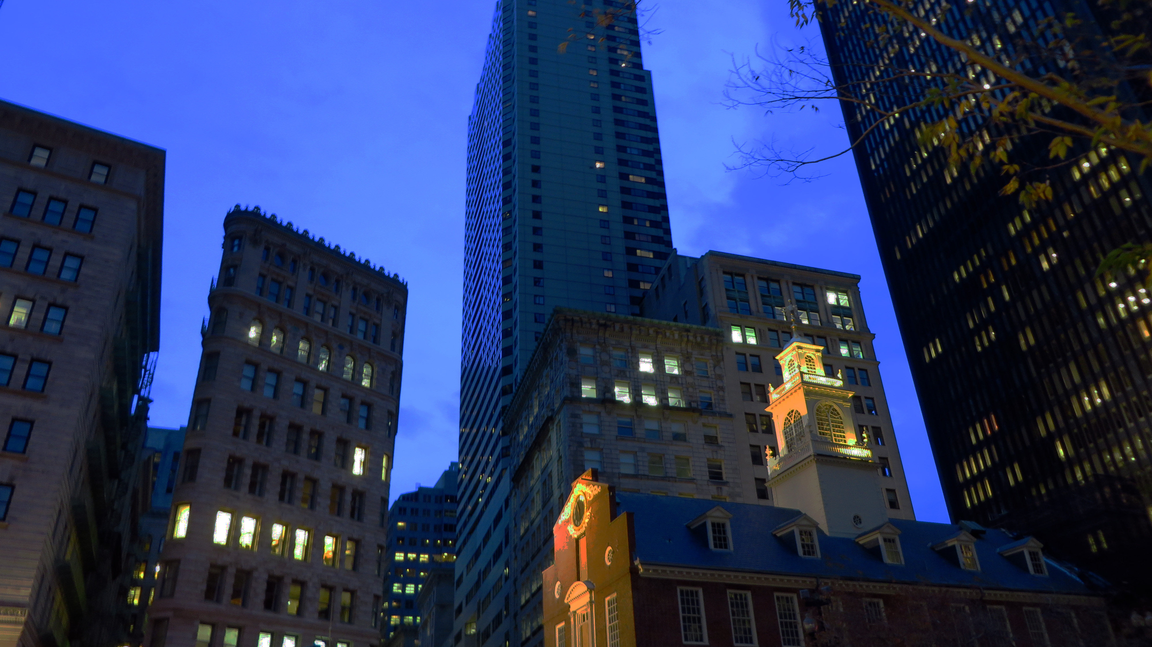 Night Scene in Boston, House, History, Massachusetts, Skyline, HQ Photo