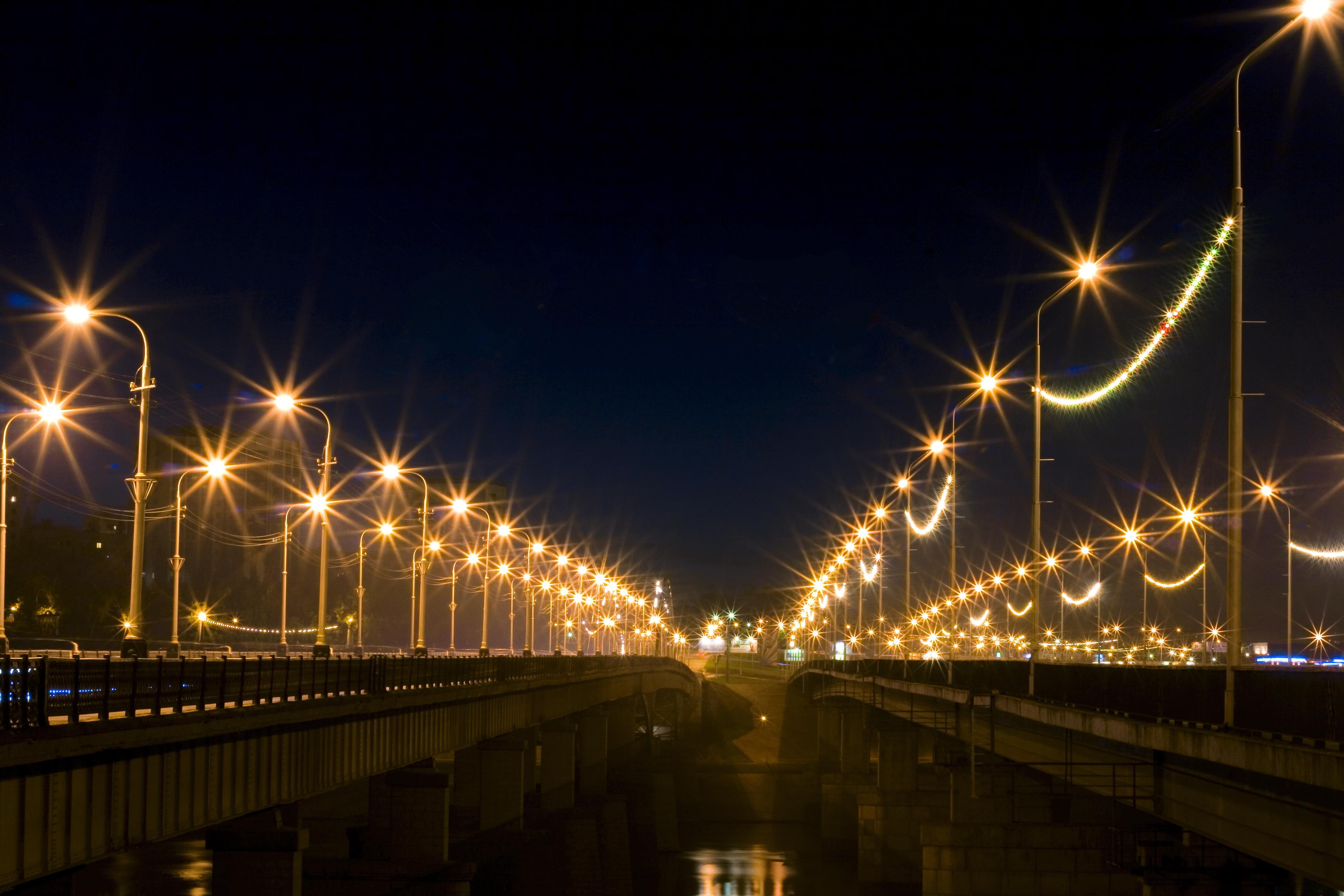 Night scene, Urban, Russia, Under, Twilight, HQ Photo