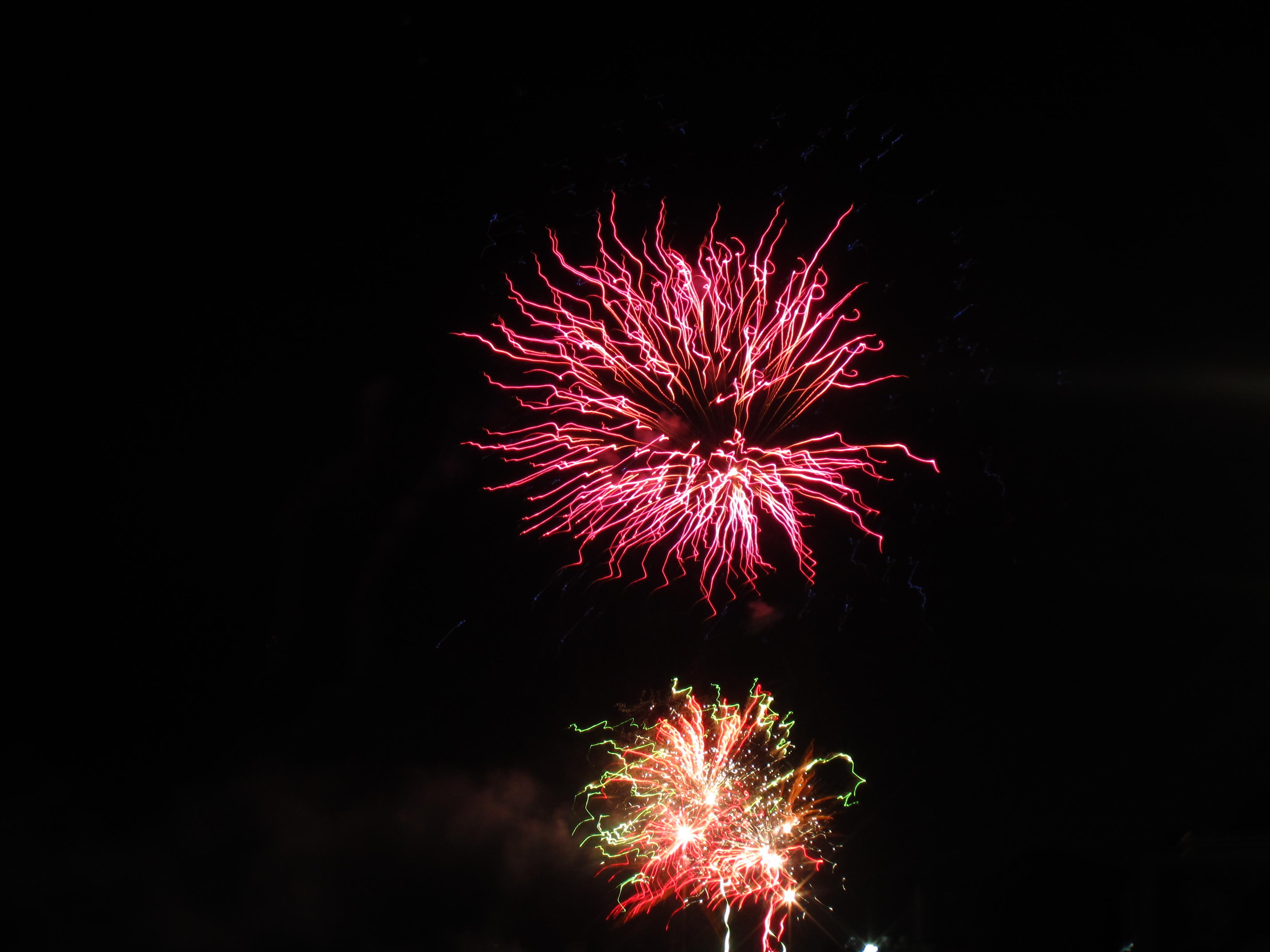Night sky fireworks photo