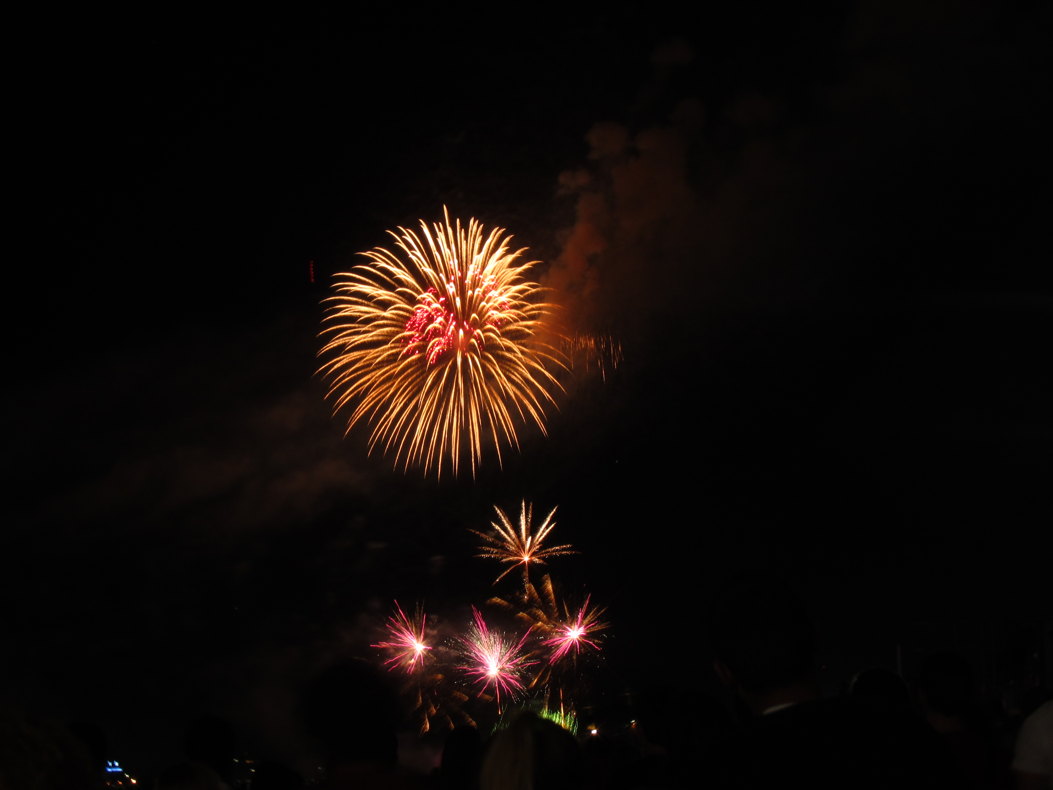 Night Sky Fireworks, Effects, Fireworks, Lights, Night, HQ Photo
