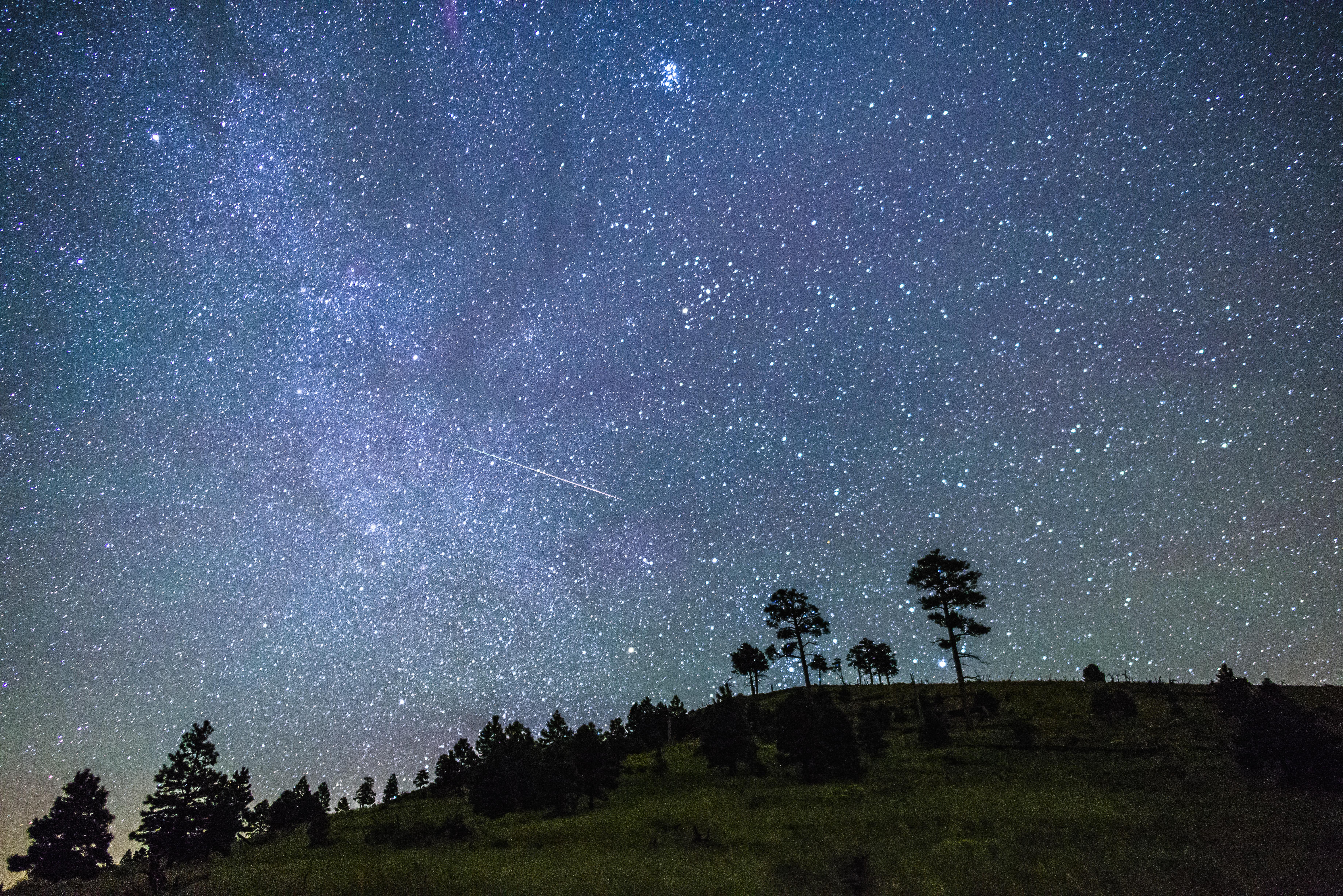 Night sky near flagstaff photo