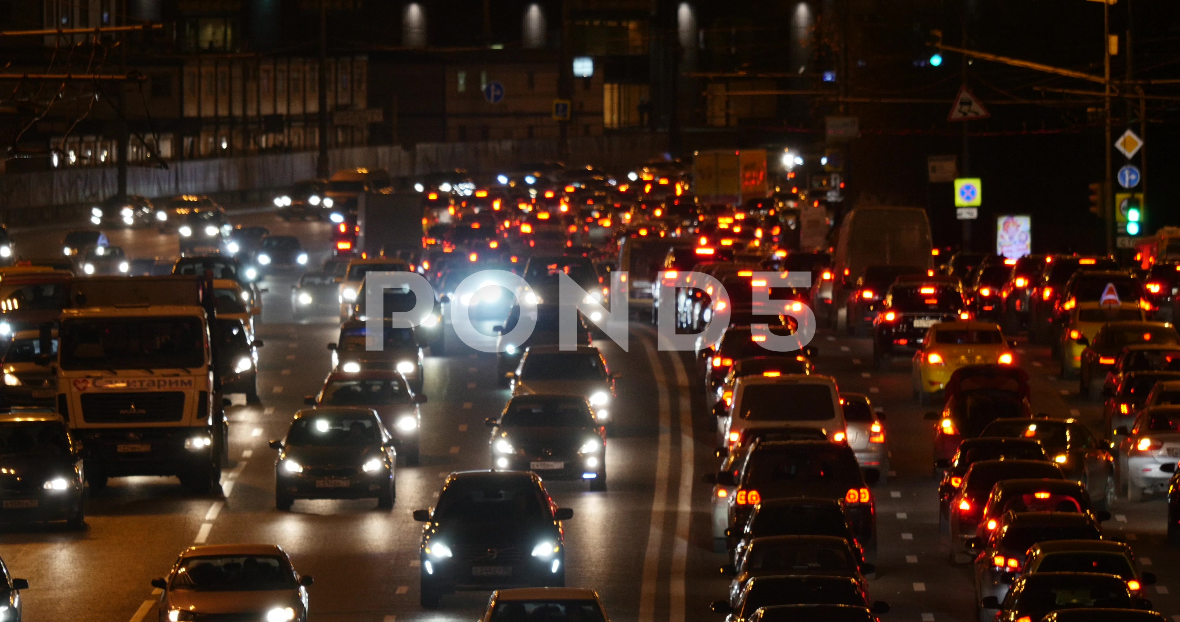 Urban scene night traffic ~ Stock Video #58890815 | Pond5