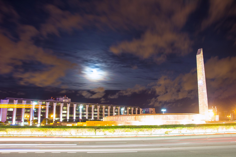 Night view of saint petersburg photo