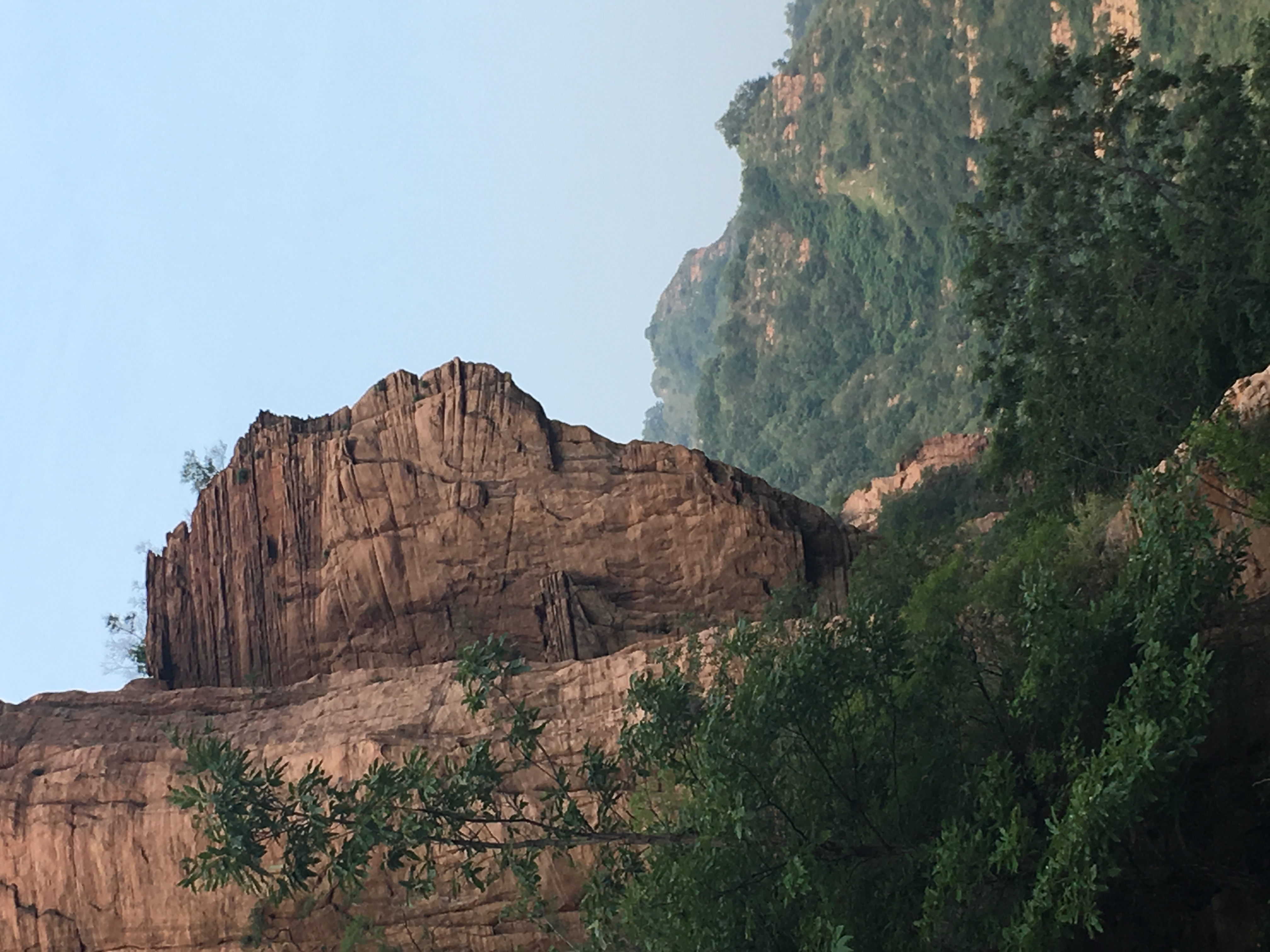 Ningyo Mountain, China, Cliffs, Form, Human, HQ Photo