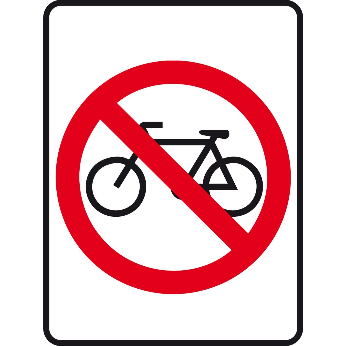 No bicycle sign photo