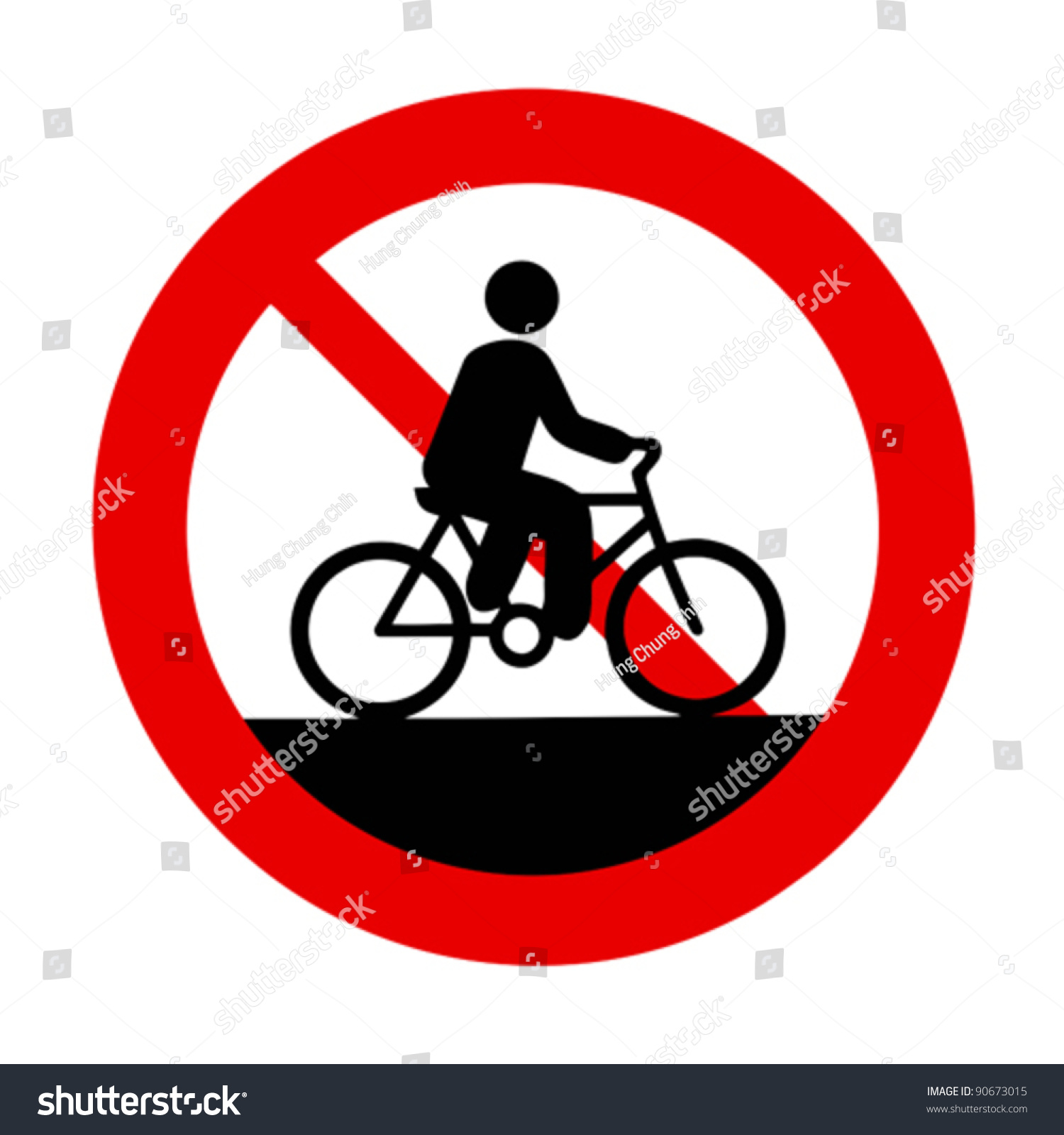 No Bicycles Allowed Sign Stock Vector (2018) 90673015 - Shutterstock