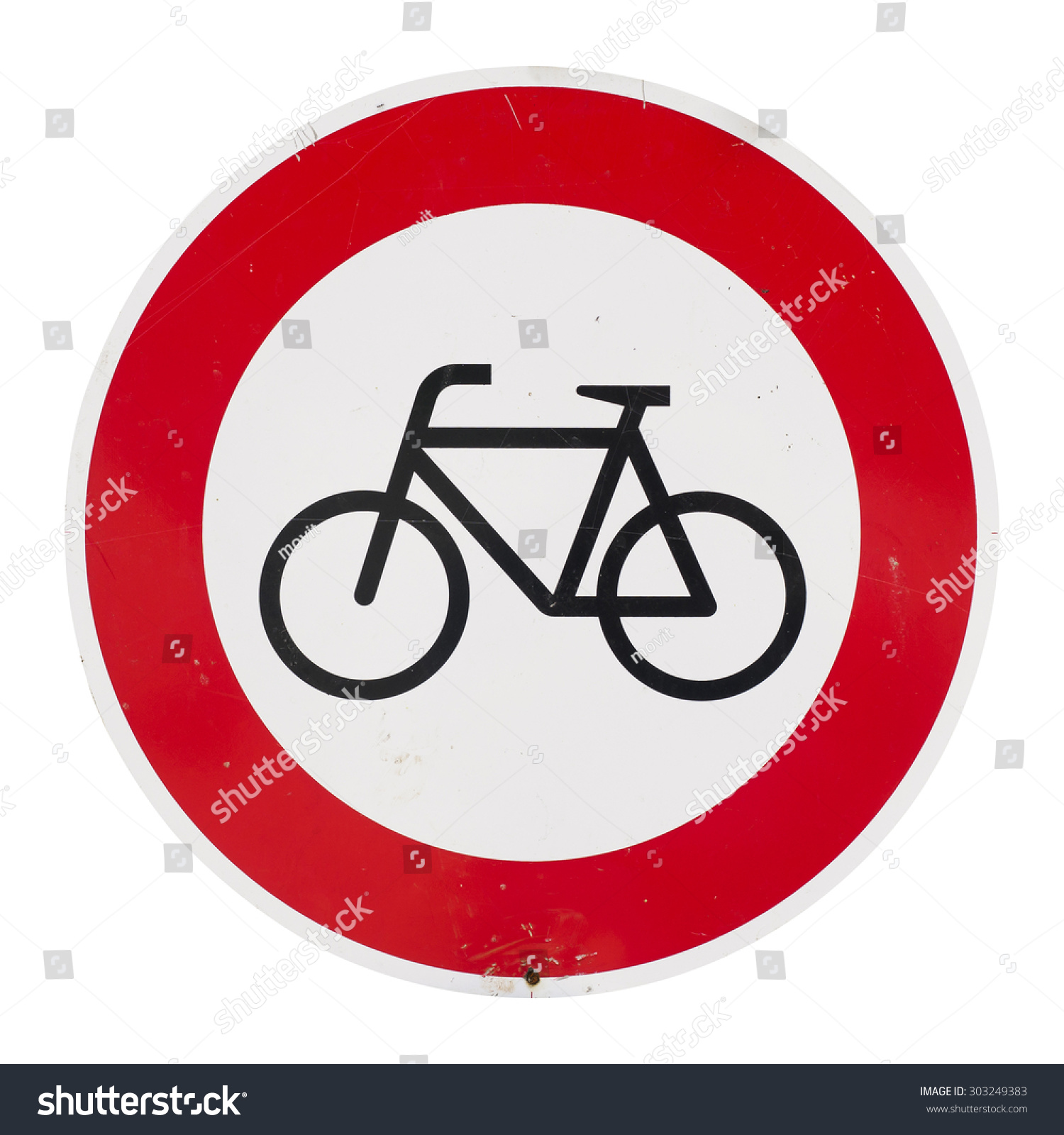 No Bicycles Forbidden Sign Not Allowed Stock Photo (Royalty Free ...