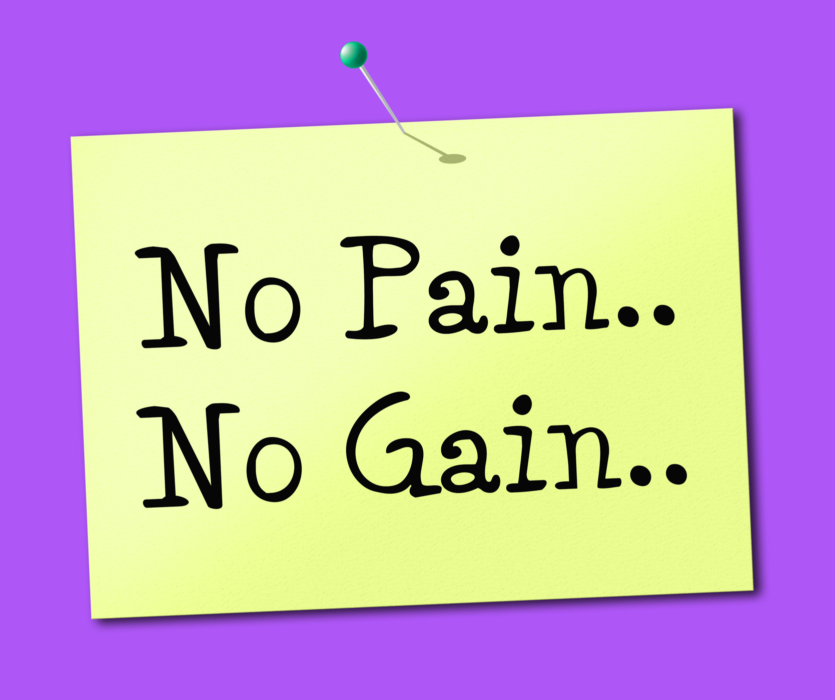 No pain gain represents making it happen and success photo