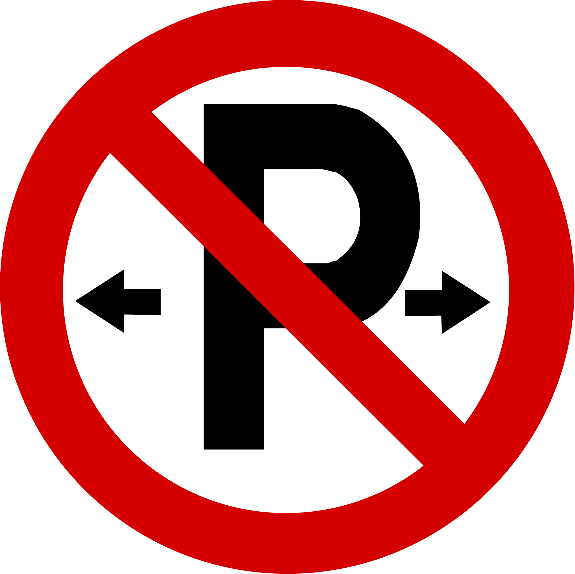 File:Regulatory road sign no parking.svg - Wikimedia Commons