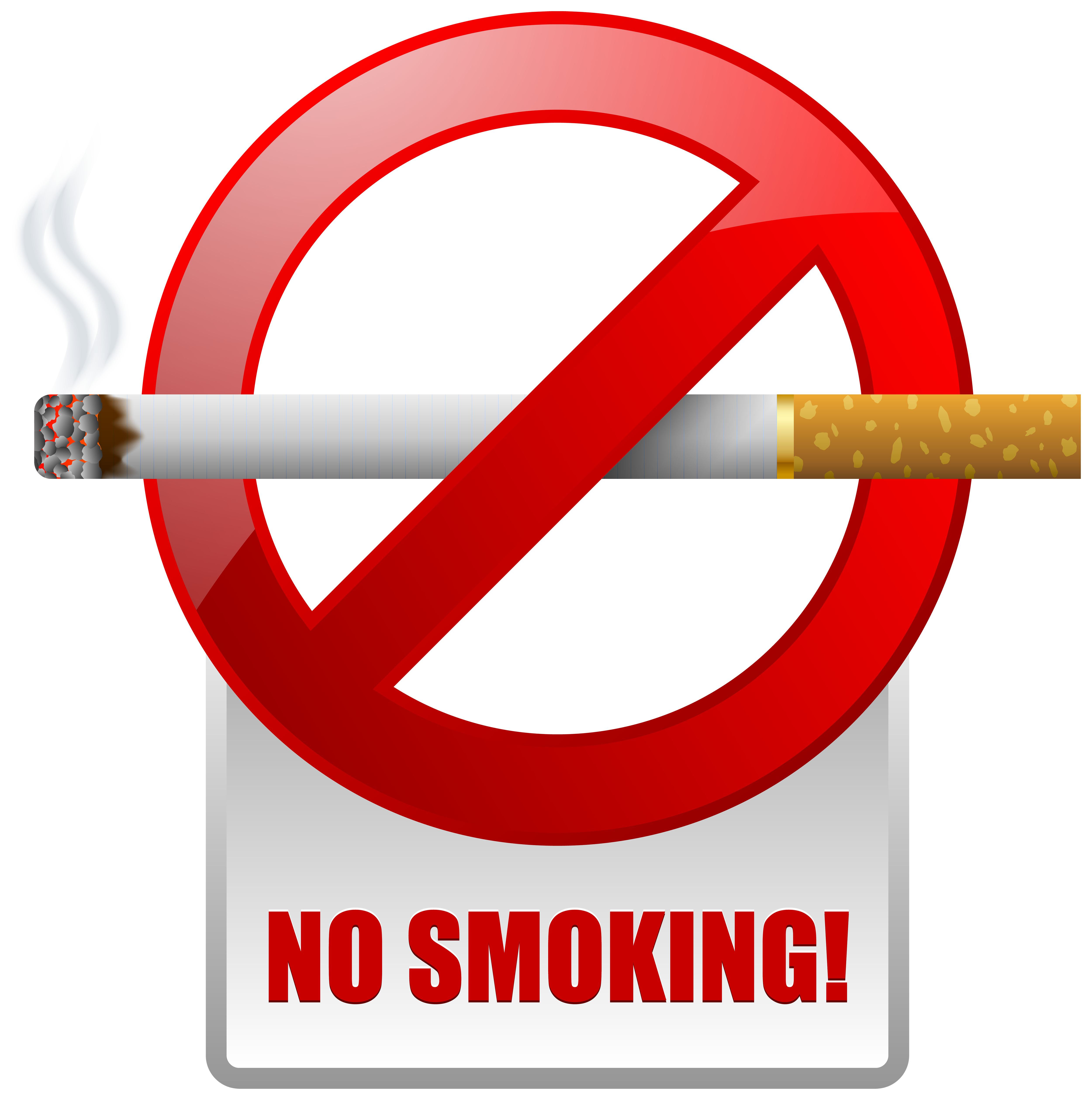 Red No Smoking Warning Sign PNG Clipart - Best WEB Clipart