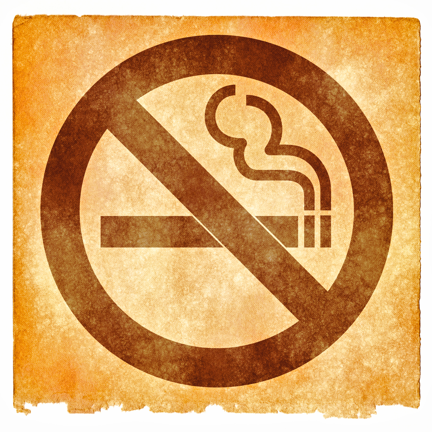 No smoking grunge sign photo