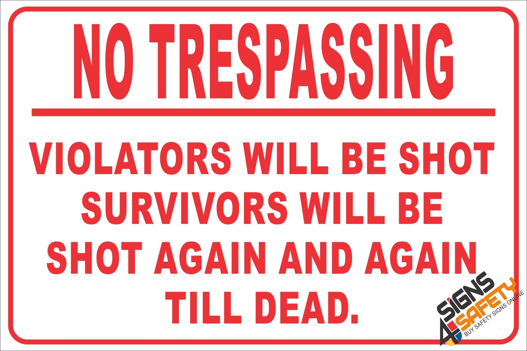 No trespassing photo