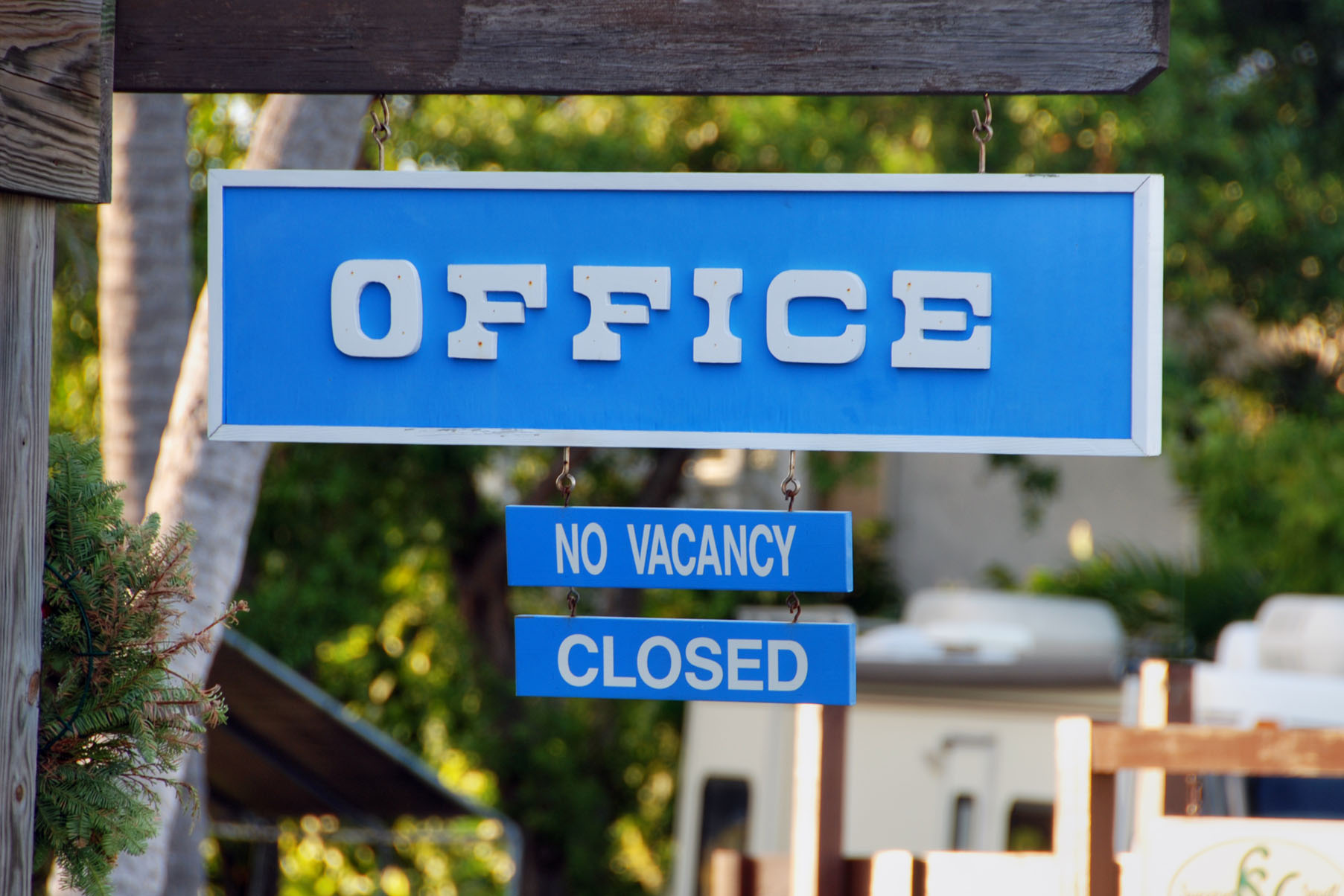 No vacancy, islamorada, florda, january photo