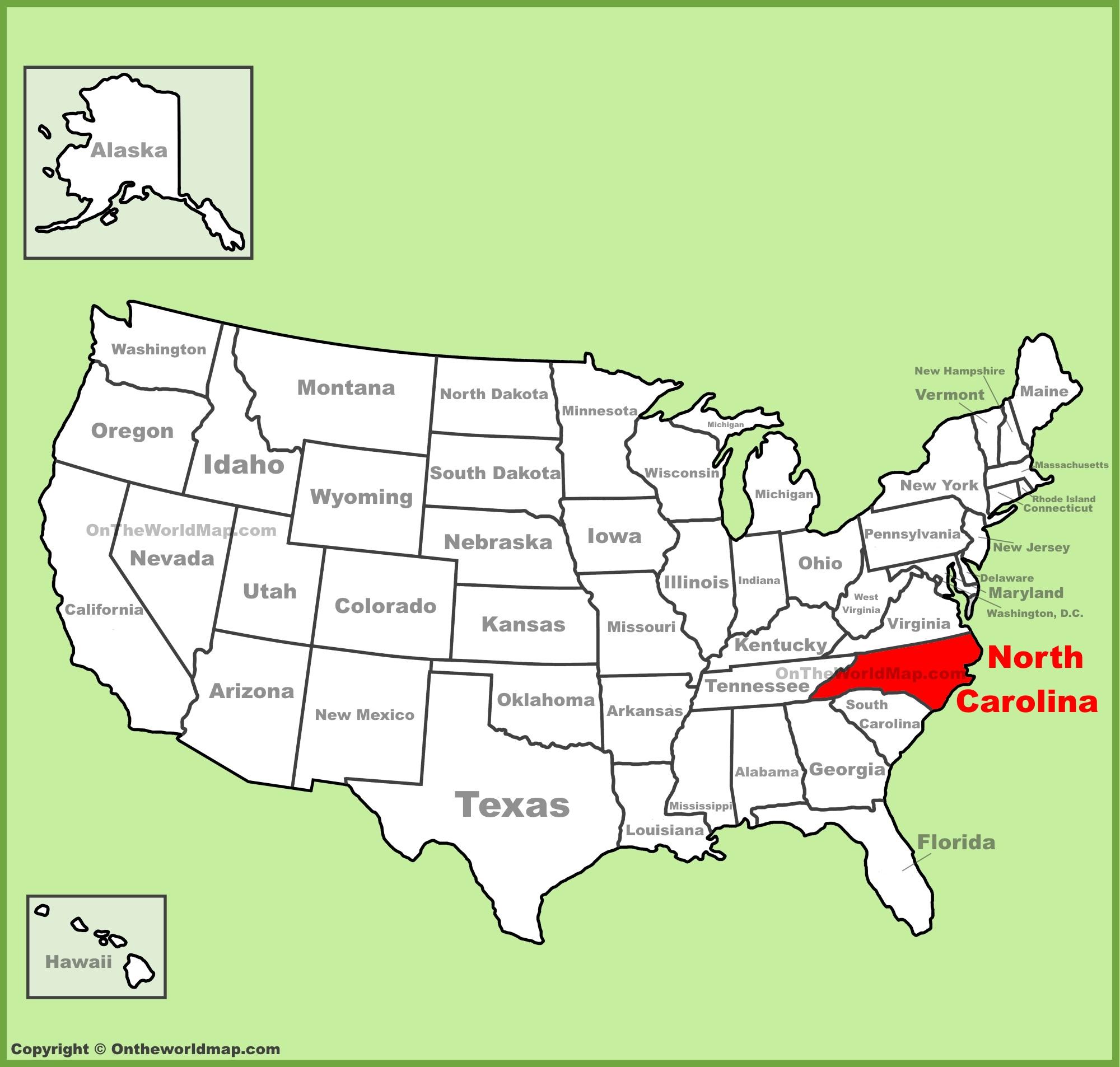 North Carolina State Maps | USA | Maps of North Carolina (NC)