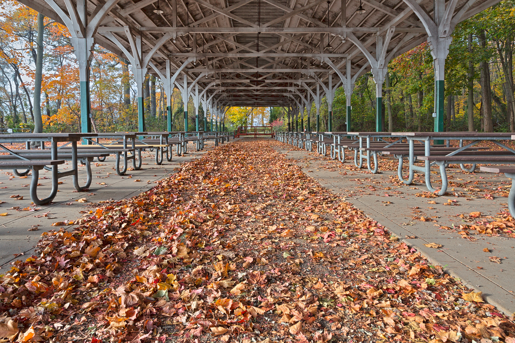 North Point Trolley Pavilion - HDR, Aisle, Passageway, Scenery, Scene, HQ Photo