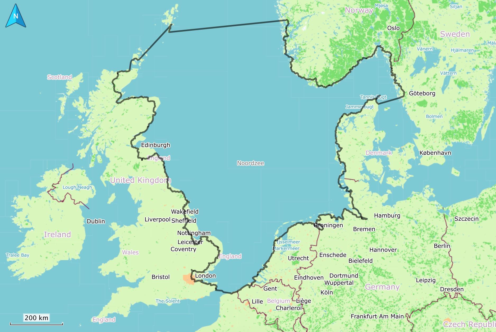 North sea photo