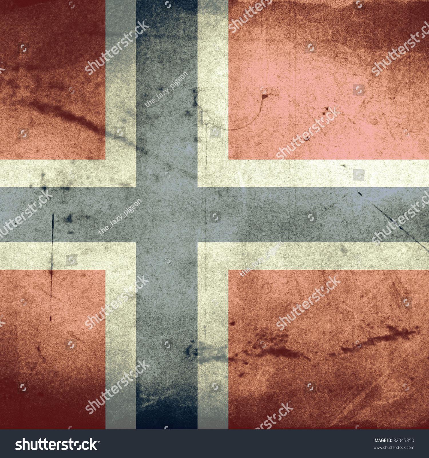 Norway grunge flag photo