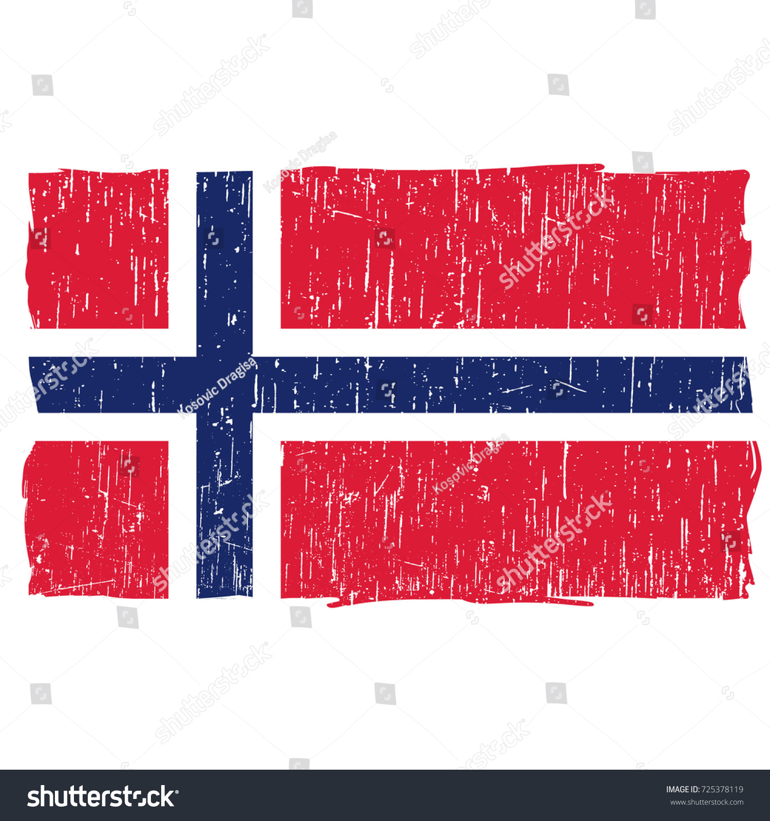 Grunge Norway Flag Vector Easy Use Stock Vector 725378119 - Shutterstock