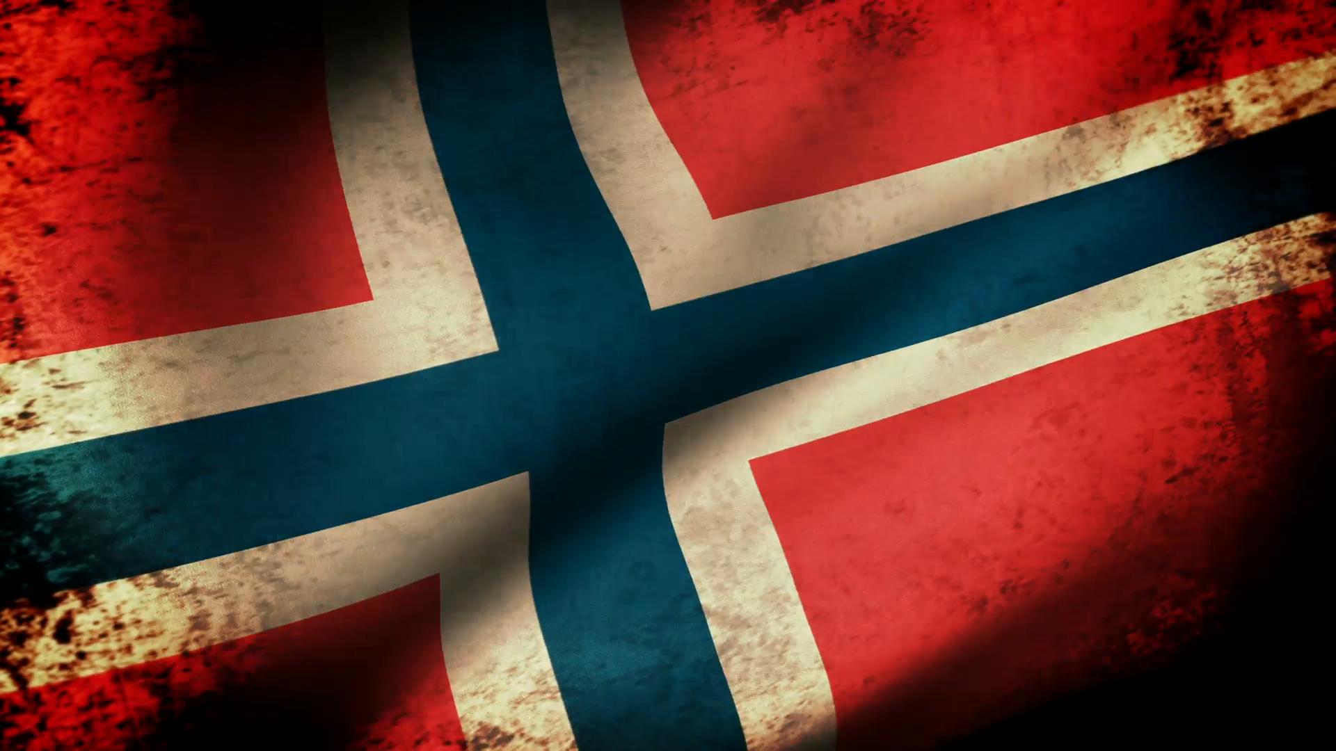 Norway Flag Waving, grunge look Motion Background - VideoBlocks