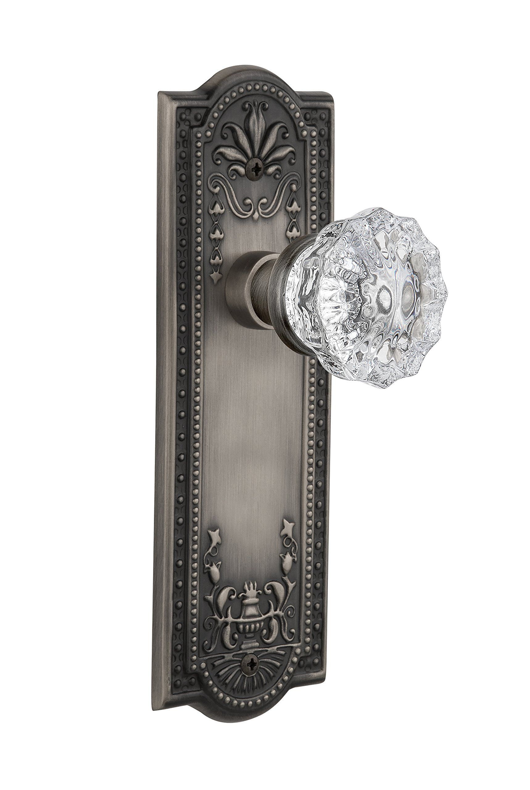 Nostalgic Warehouse Meadows Plate with Crystal Knob Complete Passage ...