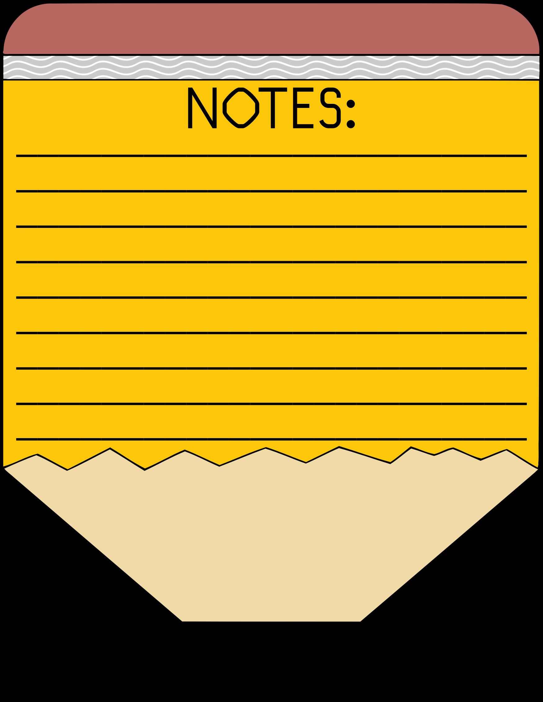 Clipart - Pencil Notes