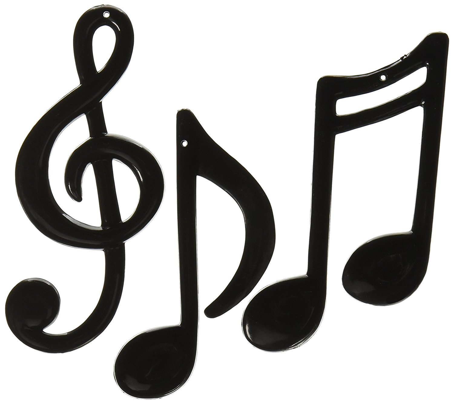 Amazon.com: Molded Plastic Musical Notes (black) (6 Count): Home ...