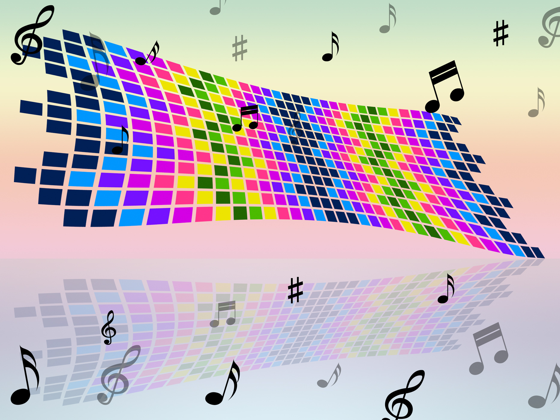Notes color indicates sound track and artwork photo